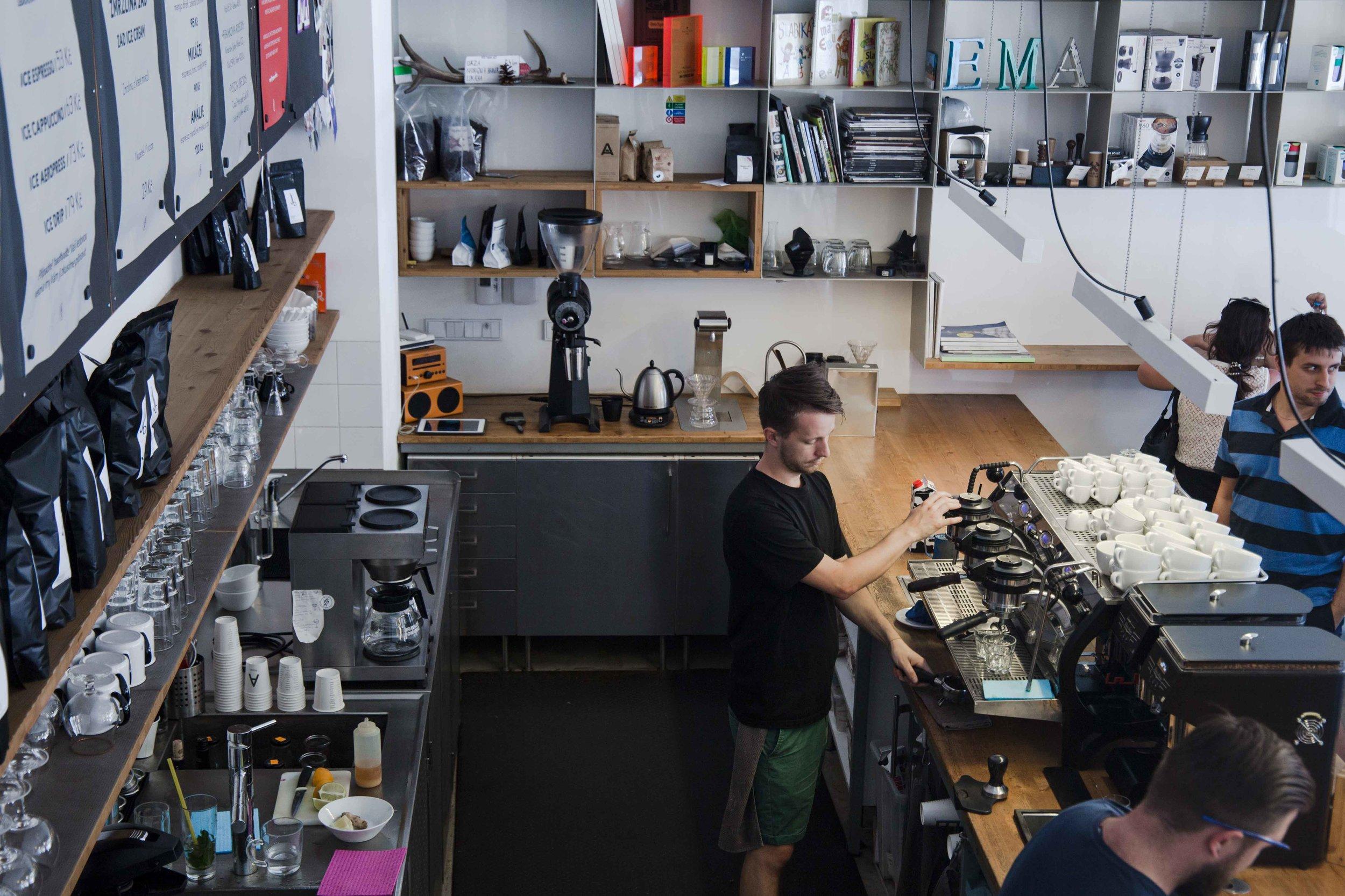 ema specialty coffee bar prague