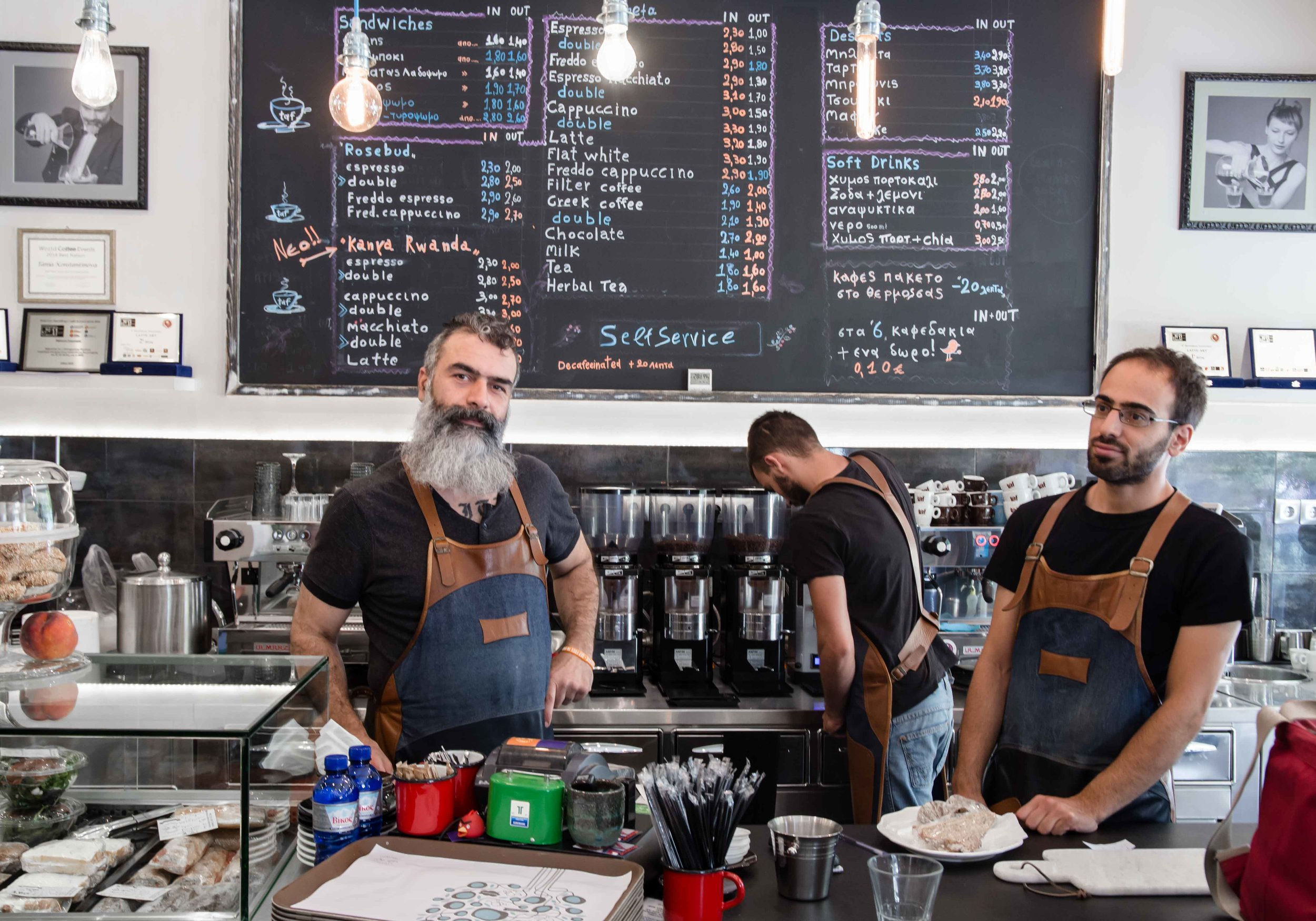 Duo Goulies & Duo Mpoukies specialty coffee athens