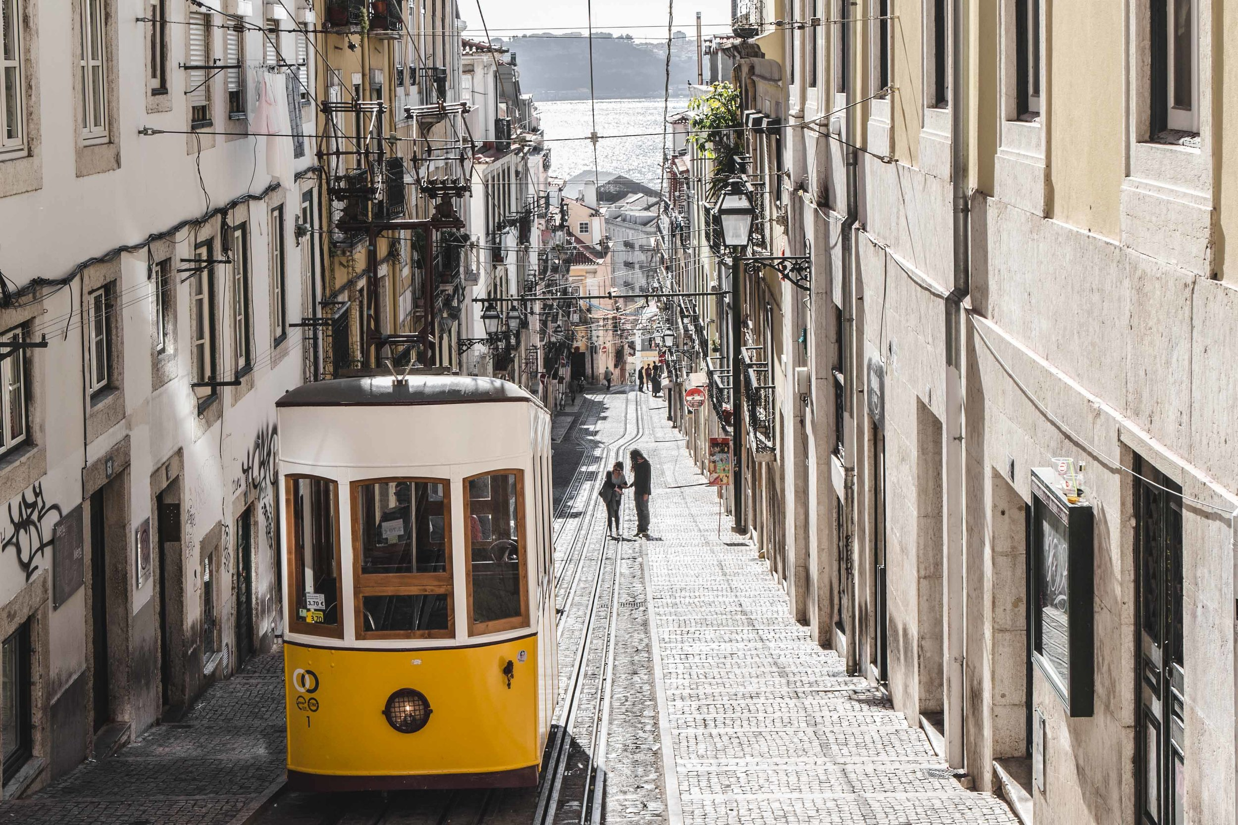 lisbon historic center and tram