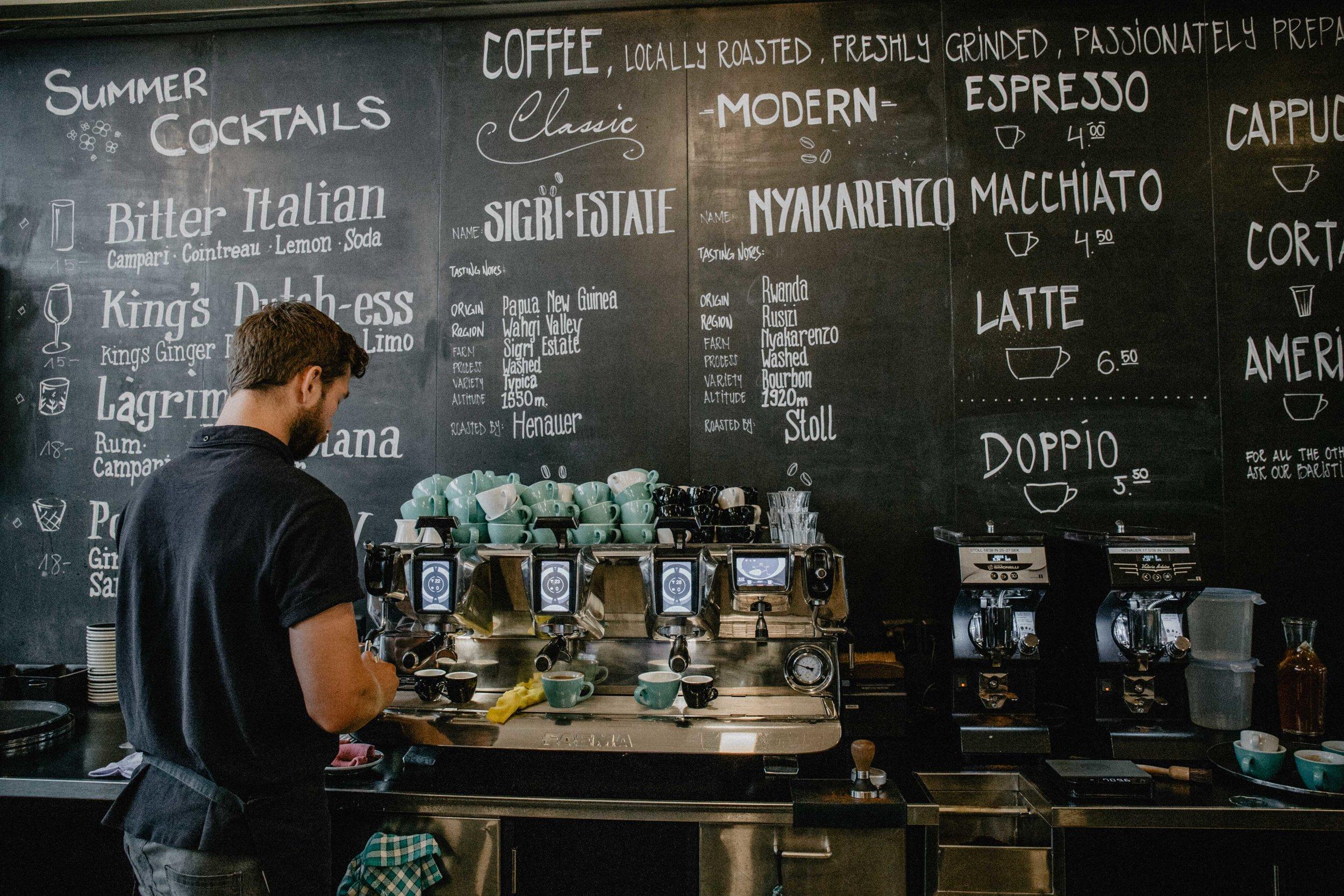 Bovelli specialty cafe zurich