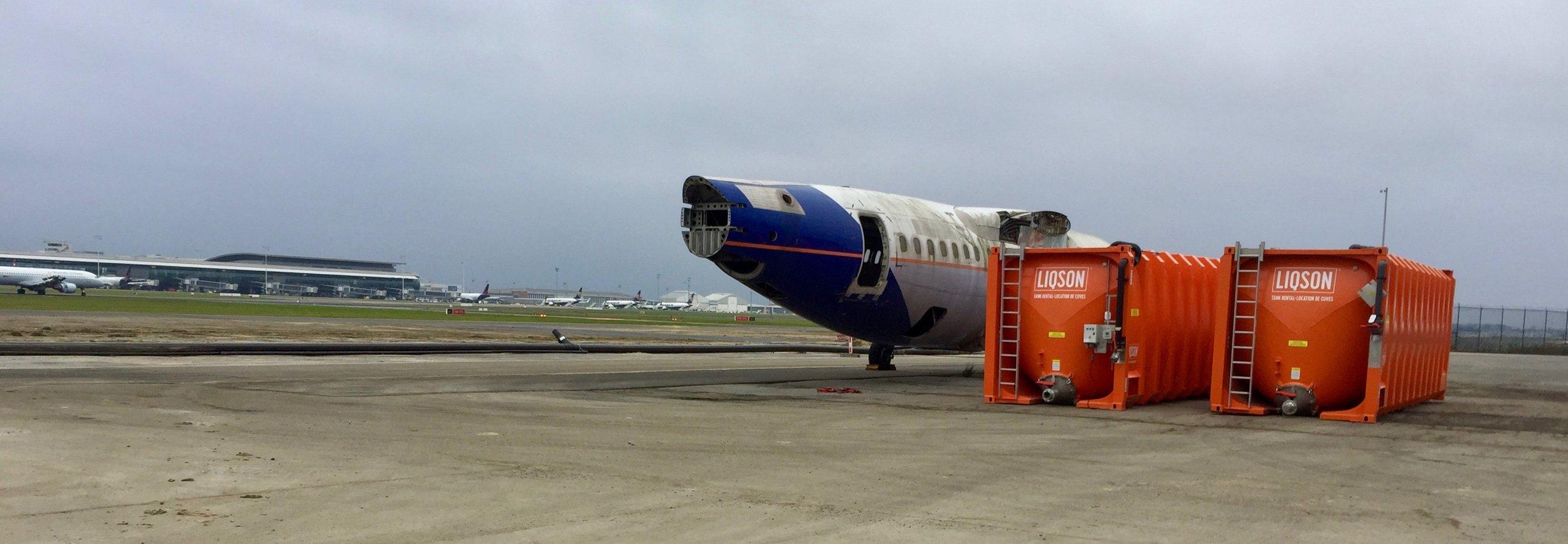 Opslag de-icing vloeistoffen voor luchthavens