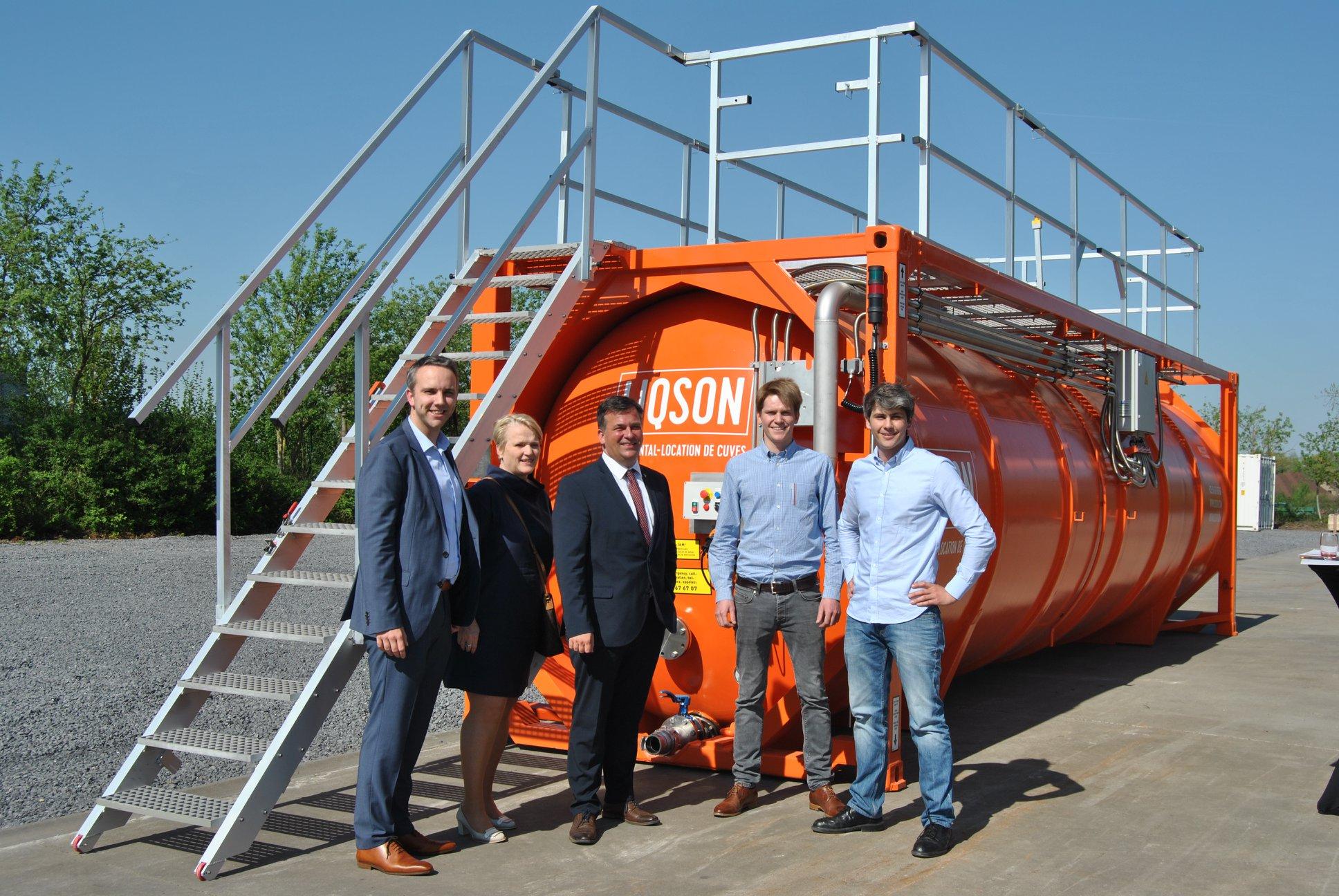 bedrijfsbezoek burgemeester liqson tankverhuur