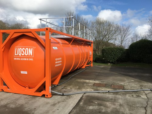 Cuve à eau potable de 36.000L en acier inoxydable