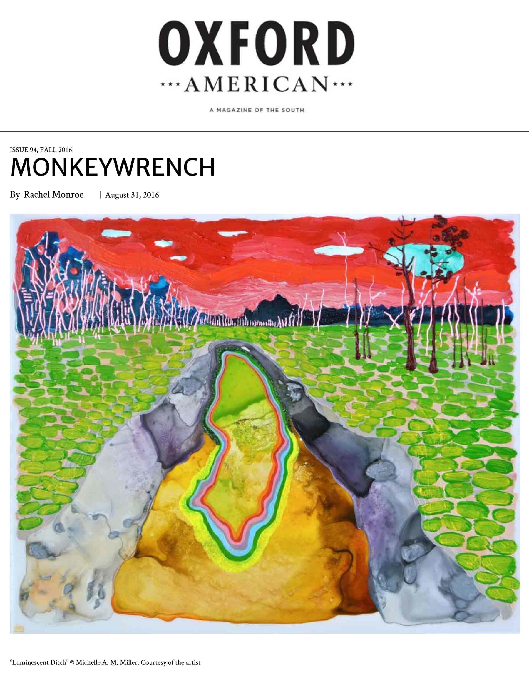 Artwork featured - 2016, Oxford American, Issue 94, artwork featured