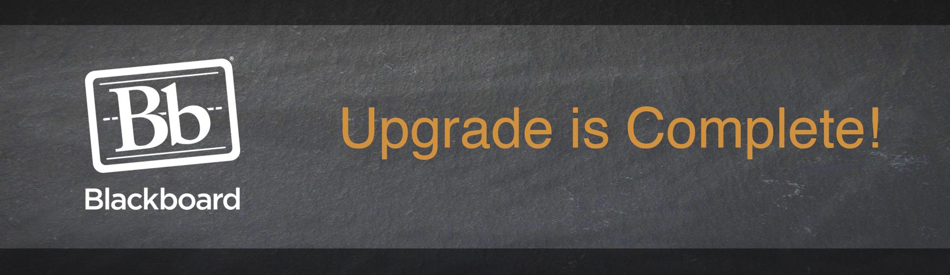 FSCJ Blackboard LMS Upgrade Complete