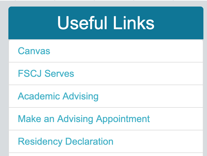 Useful Links: Canvas - From the Student Tab, Canvas can be accessed under the Useful Links section. Note: the link to Blackboard has been removed from this area..