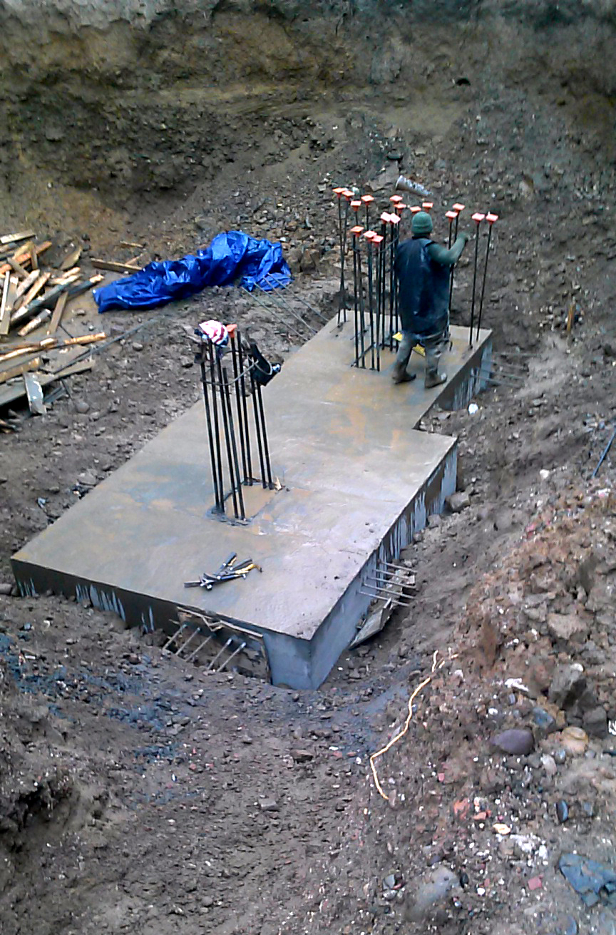 Elevator Footing Poured
