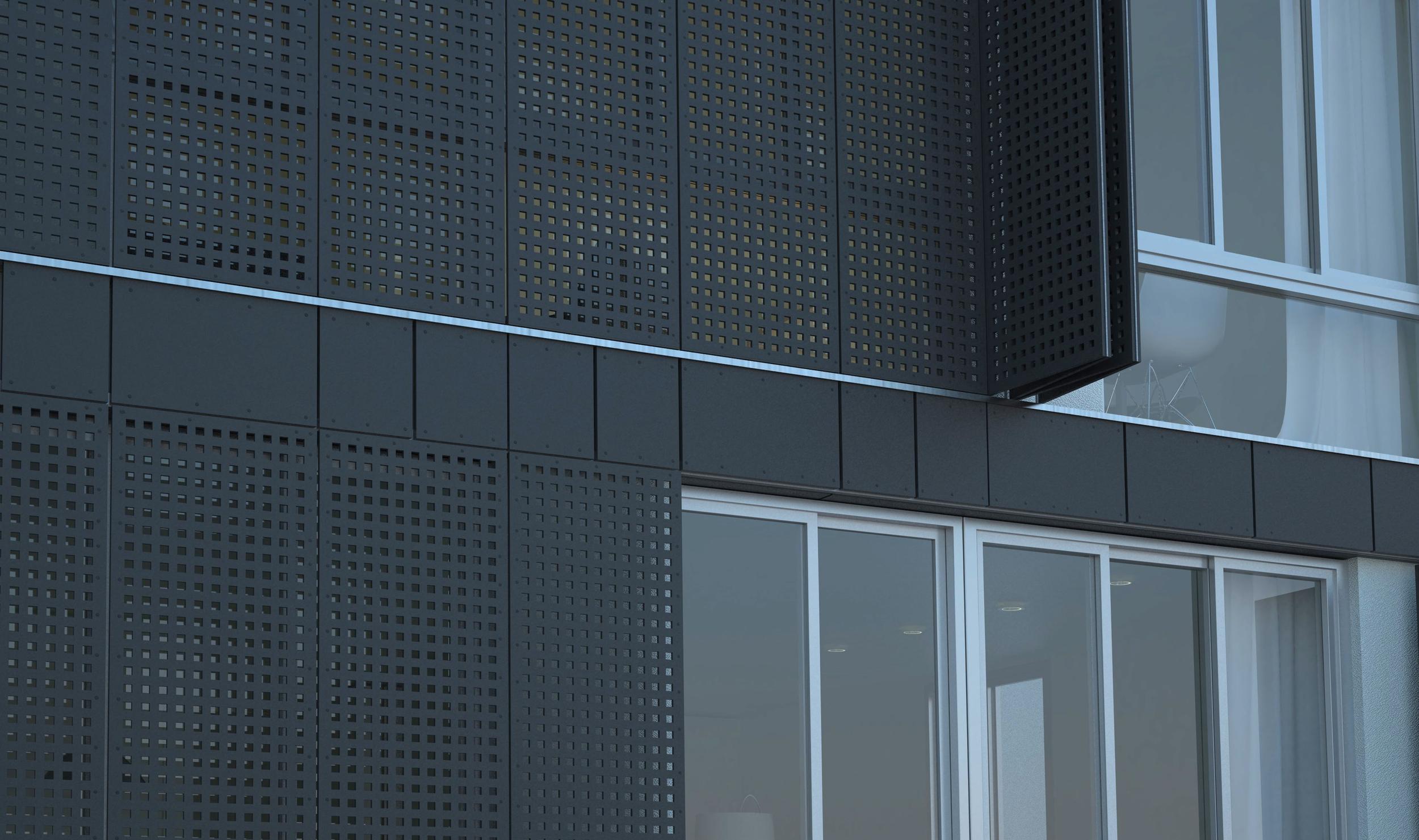 Elevation Detail - Fiber Cement Panels