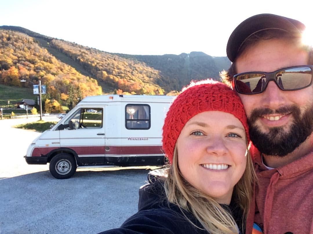My amazing boyfriend and I bought and RV. 1984 Winnebago LeSharo - we named it Dale, because there was a Dale Earnhardt sticker plastered on the back of the bumper that won't ever come off. Nothing on the dashboard works, and it took us 4 months to find where the horn was, but we love it and love our adventures.