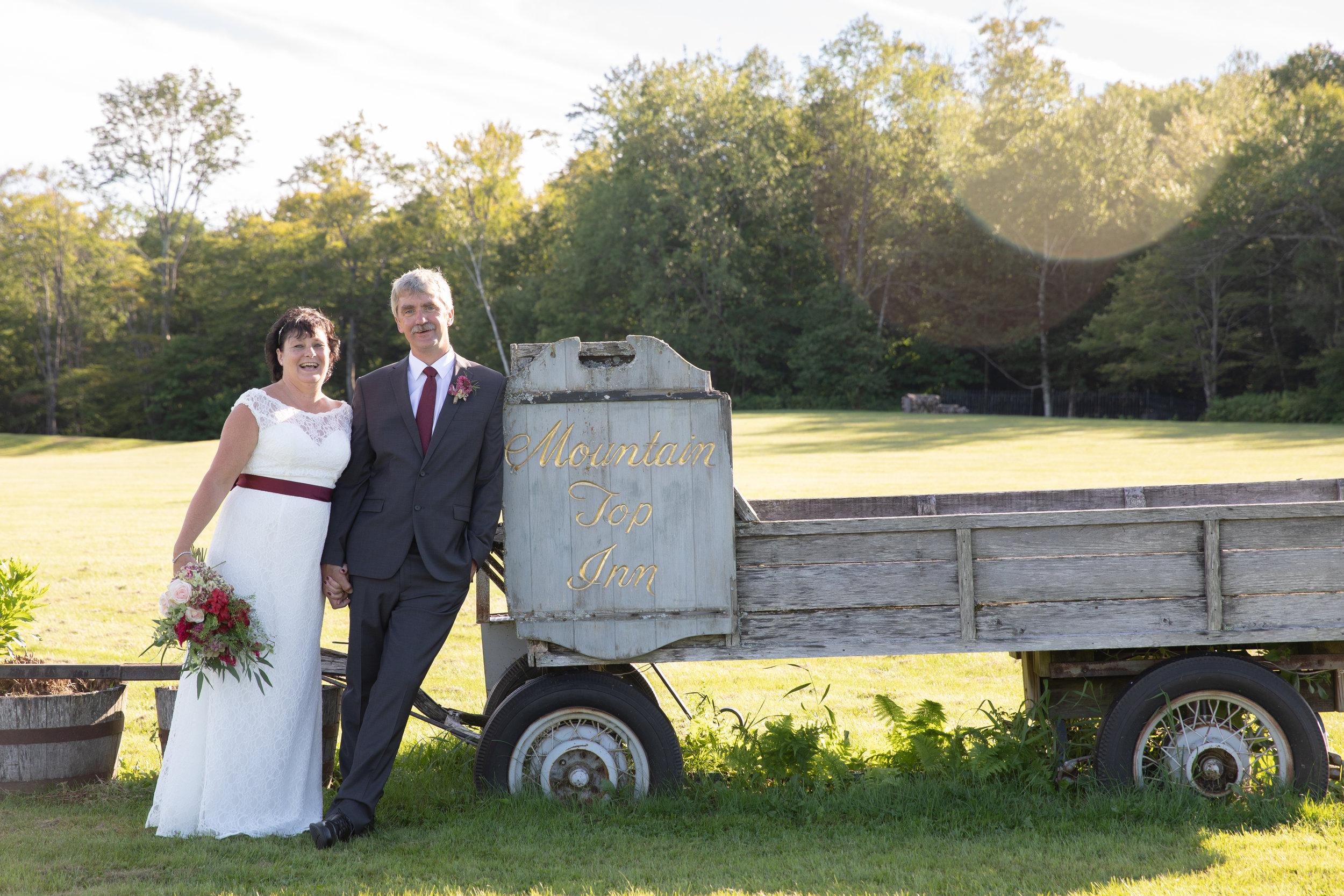 Denise & Ted - August 10, 2018 @  Mountain Top Inn & Resort  - Chittenden, Vermont