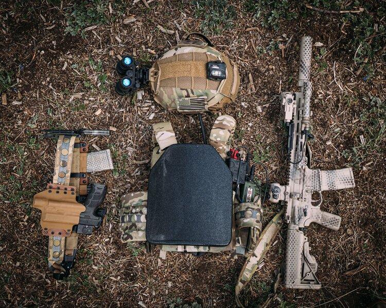 ShotStop body armor in the woods .jpeg