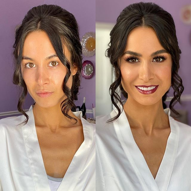 Congratulations Lauren and Brandon ! They are saying #ido at @whiteroomweddings 💒 Lauren is just beautiful ! She wanted a boho chic braid for her most special day. We decided on a deeper lip than her engagement photos. I just love it ! ♥️We spent the morning quietly with her sisters as well 💍✨💎 We did do @hydrafacial skin treatments and spray tanning before the big day !  Hair by @onceuponastylist ✂️ Her details are so dreamy 👰🏻