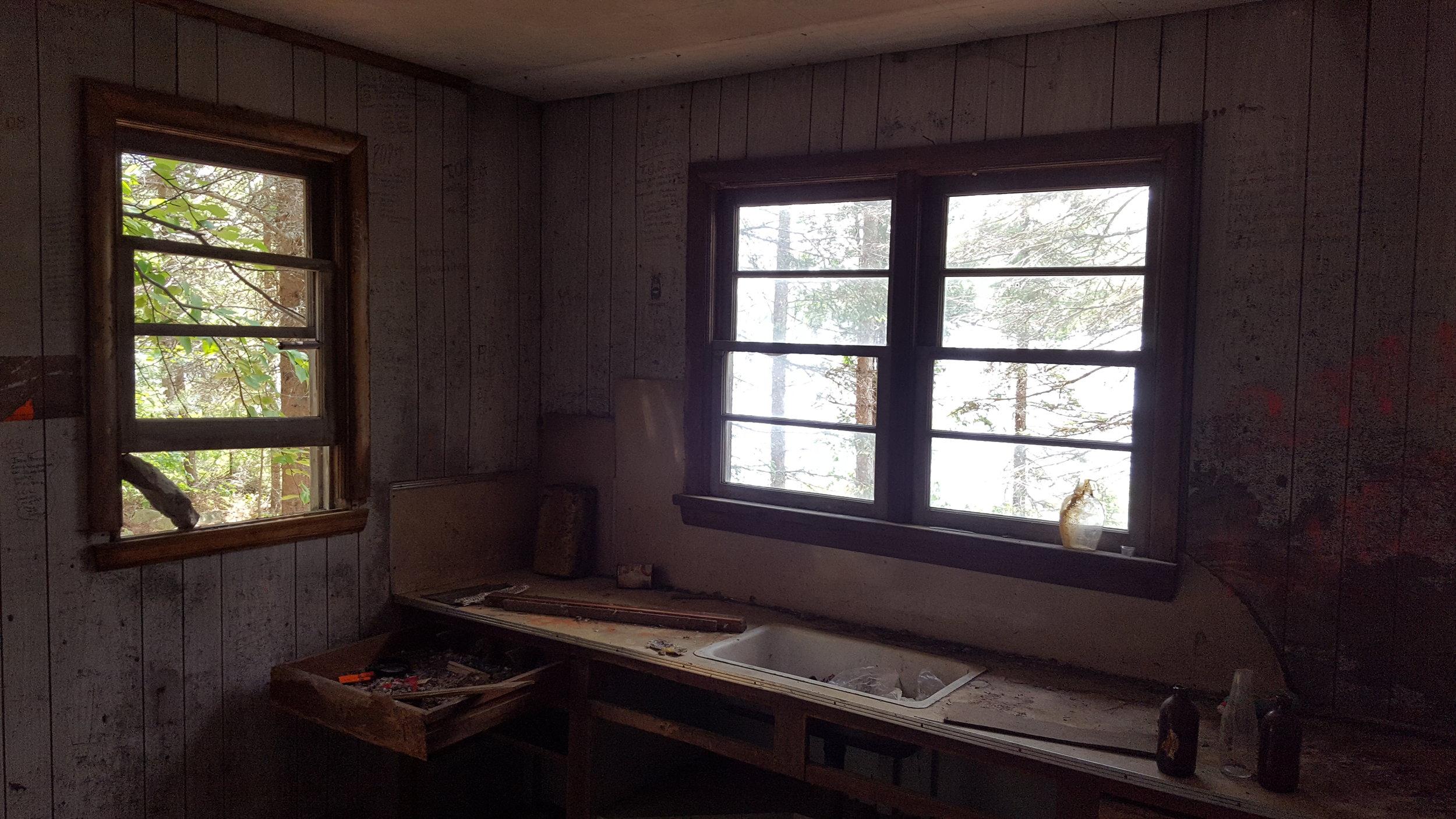 Inside the Ranger Cabin on Dewdney Lake