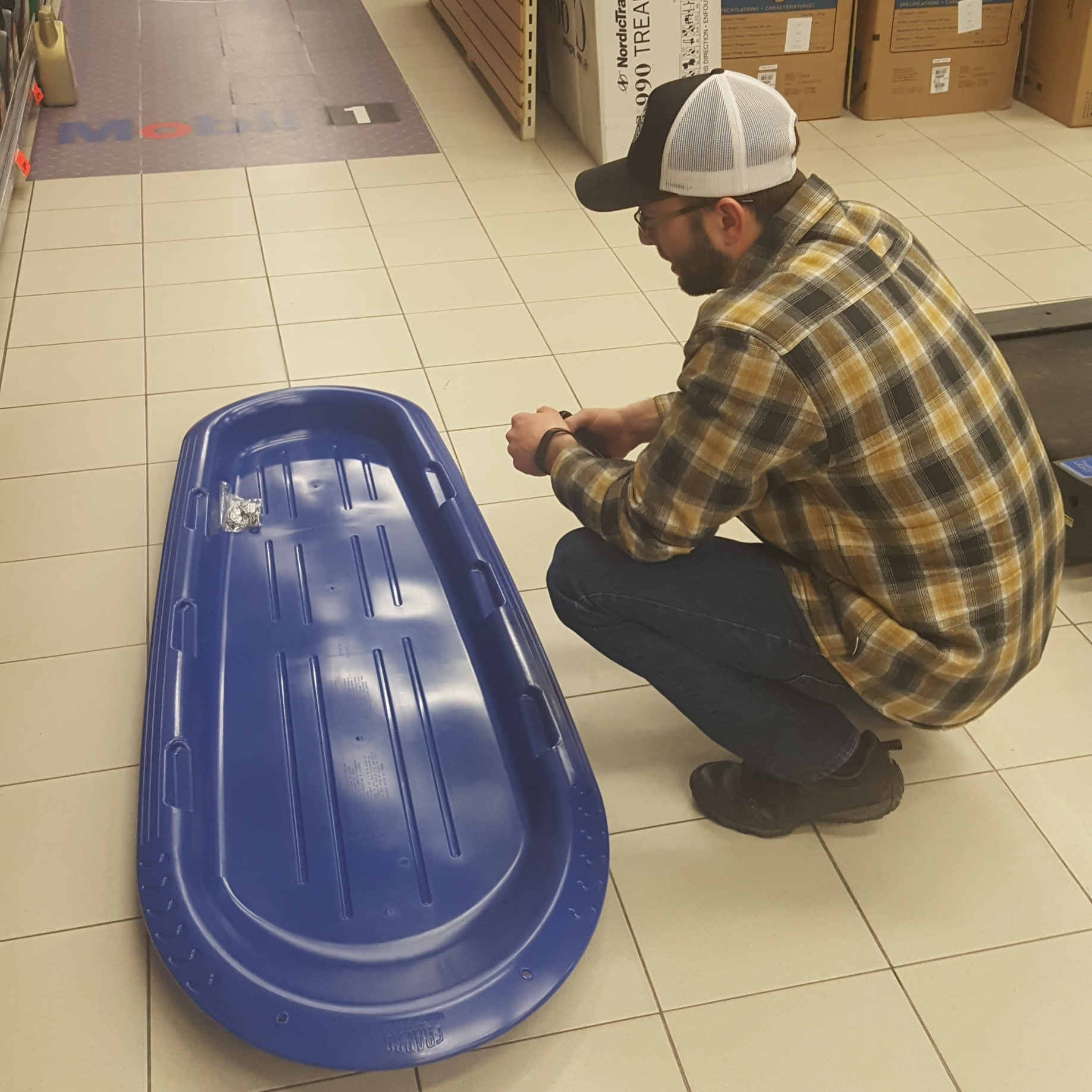$24 Sled from Canadian Tire
