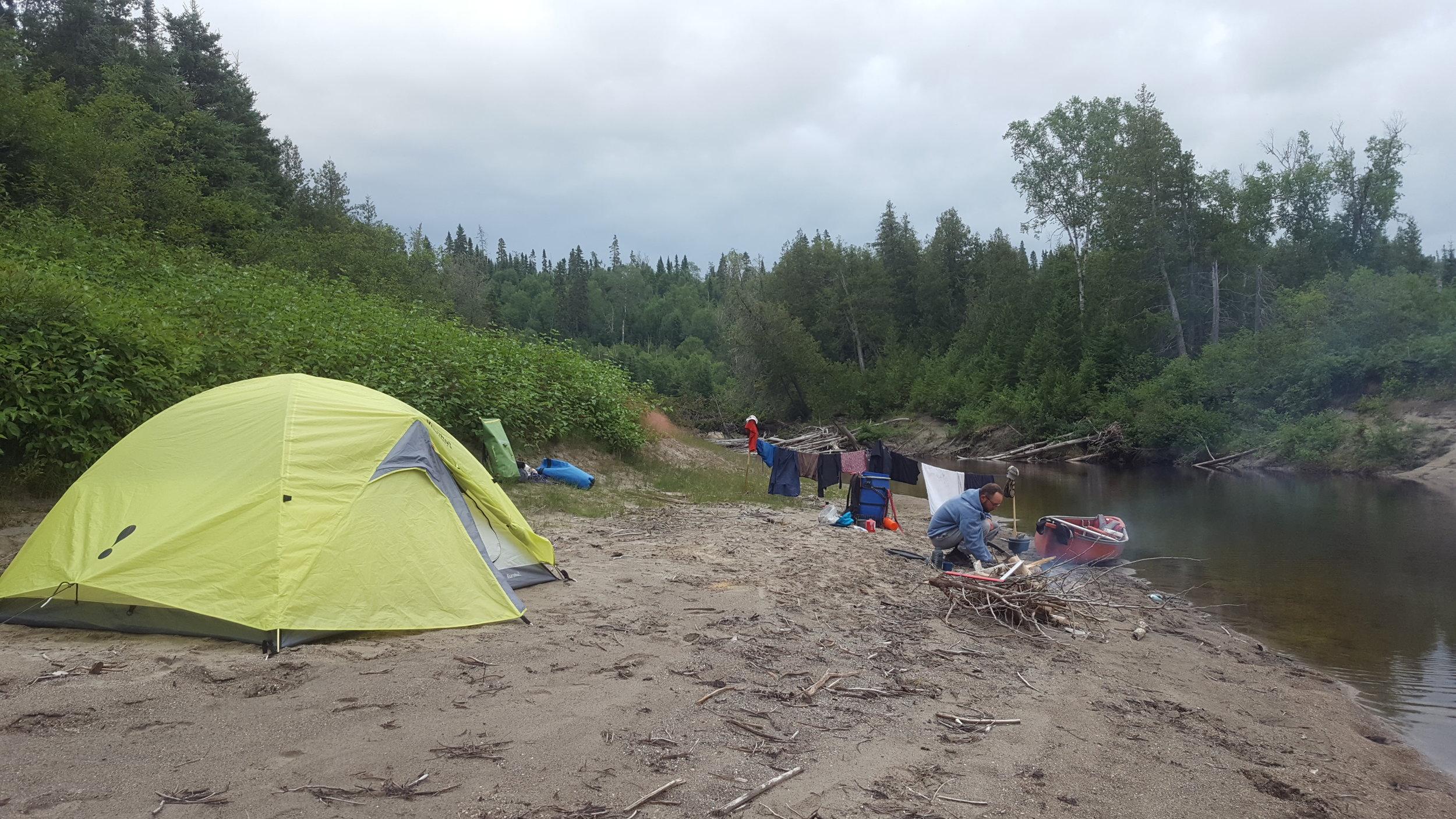 Beach Site on Steel River