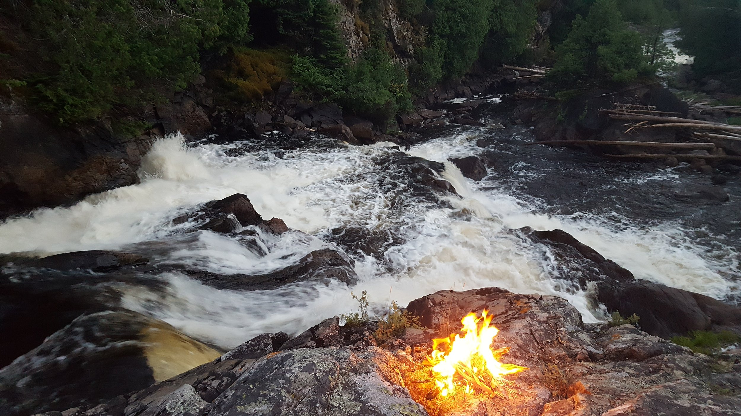 Campfire at Rainbow Falls - Steel River