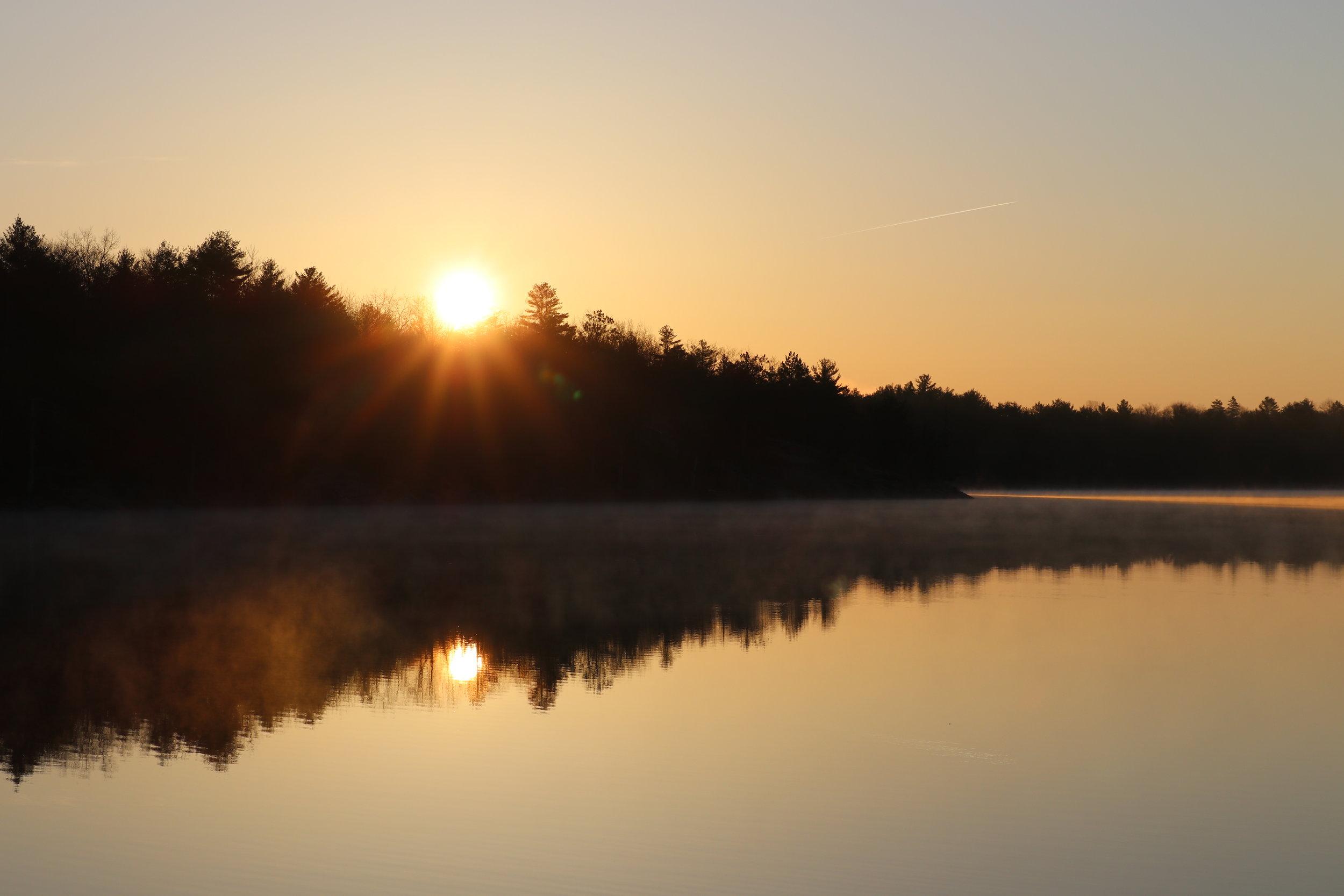 Sunrise on Serpentine Lake site #220