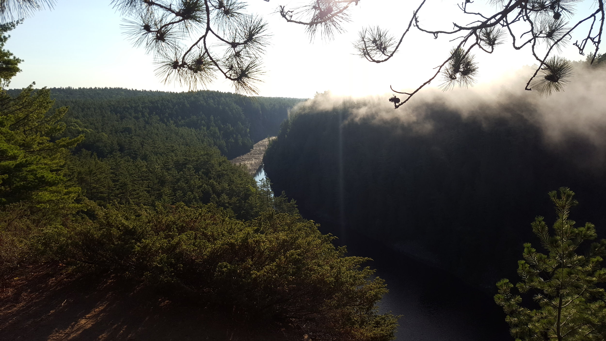 View from the top of the Barron Canyon - Algonquin Park (On the Barron Canyon Trail)
