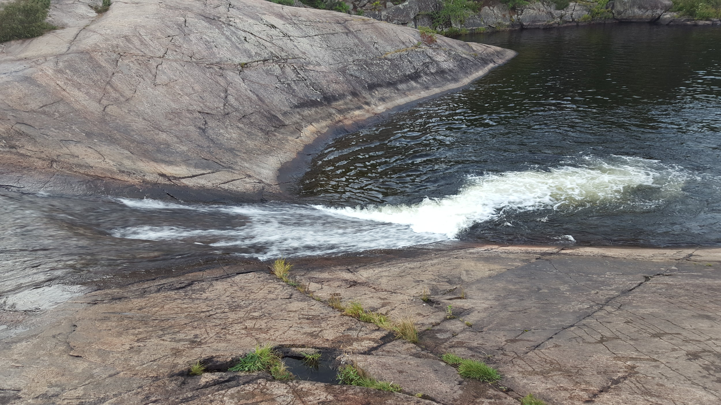 Natural Waterslide near High Falls in Algonquin Park