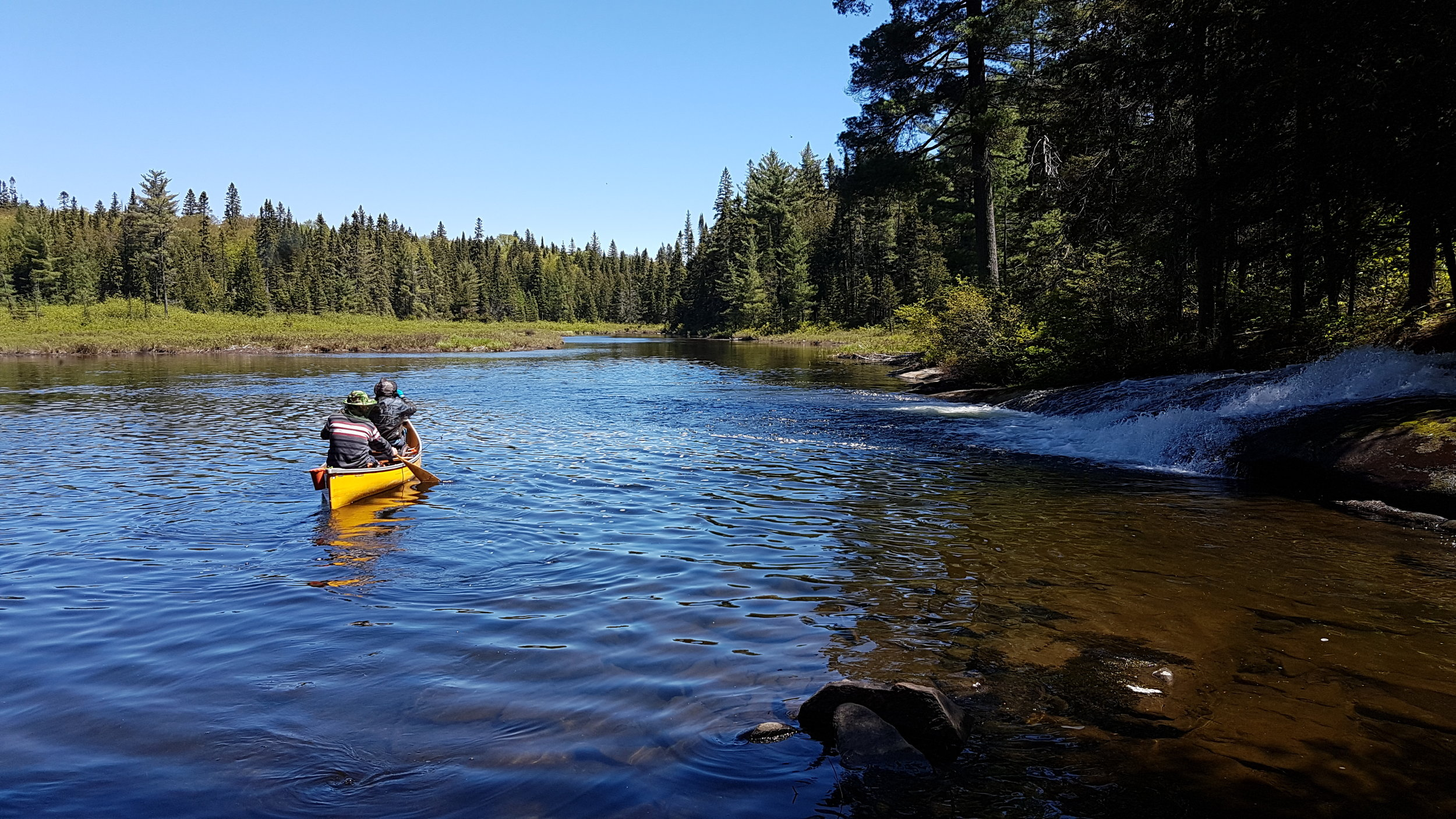 On the Petawawa River right after the portage from Daisy Lake
