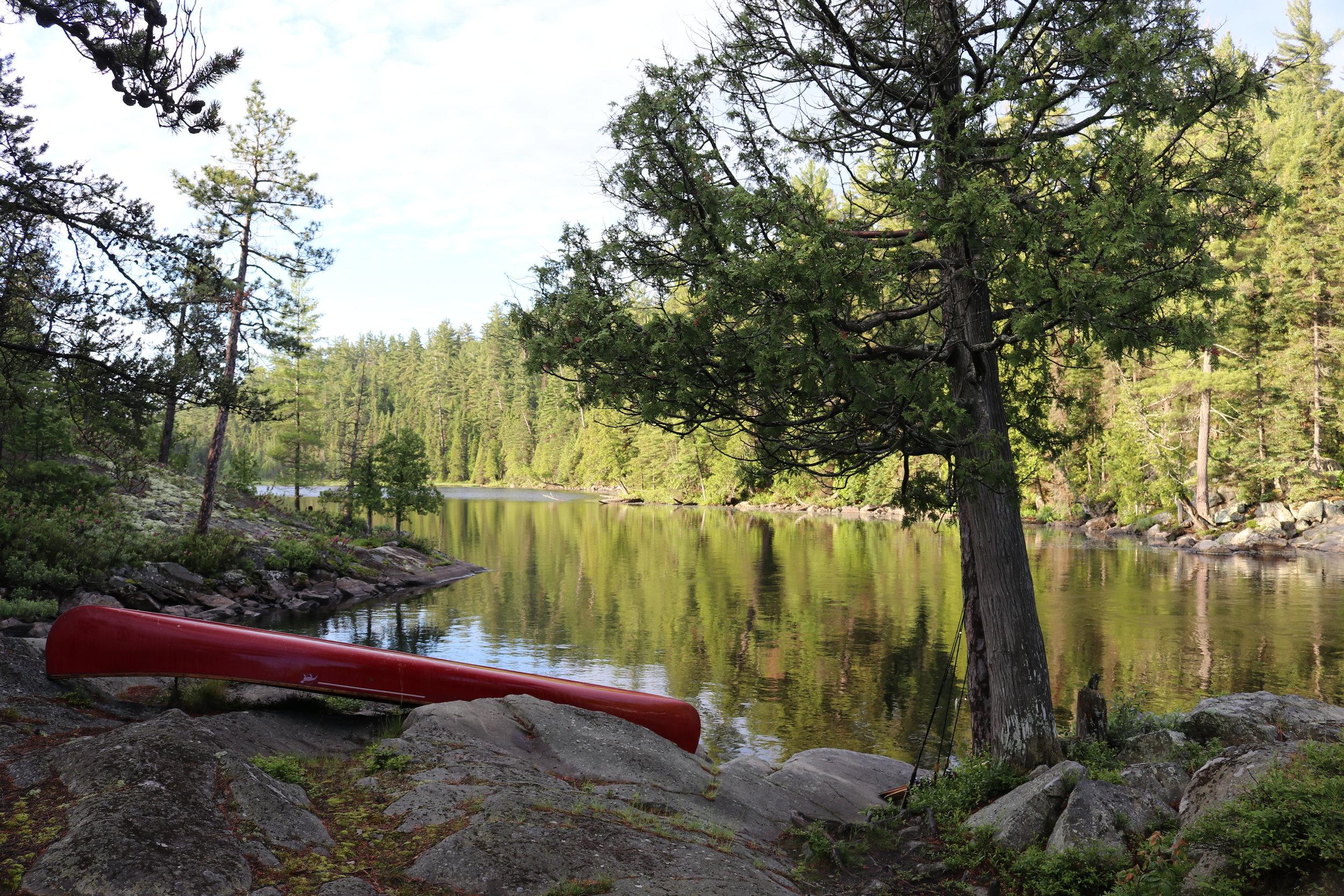 Camp #2 - Beautiful morning at Helen Falls