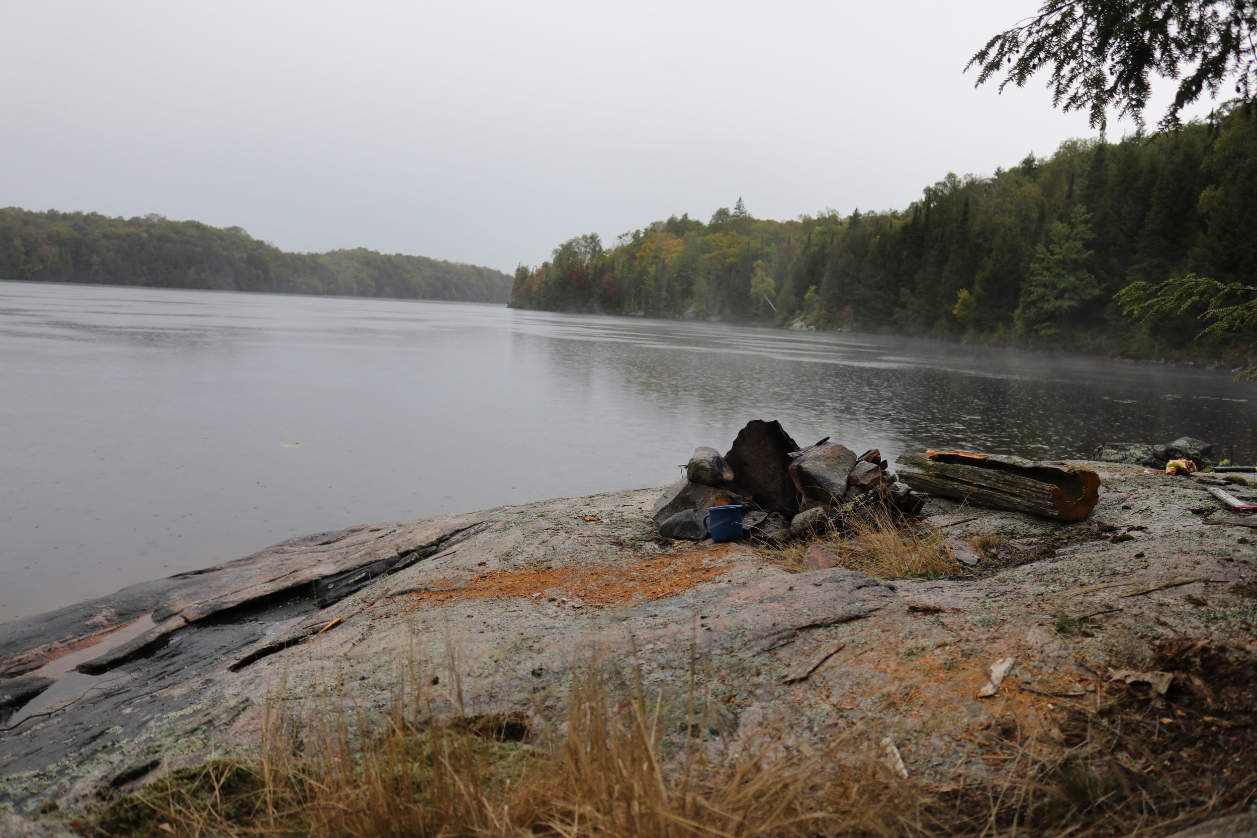 Rainy Morning View on Toad Lake
