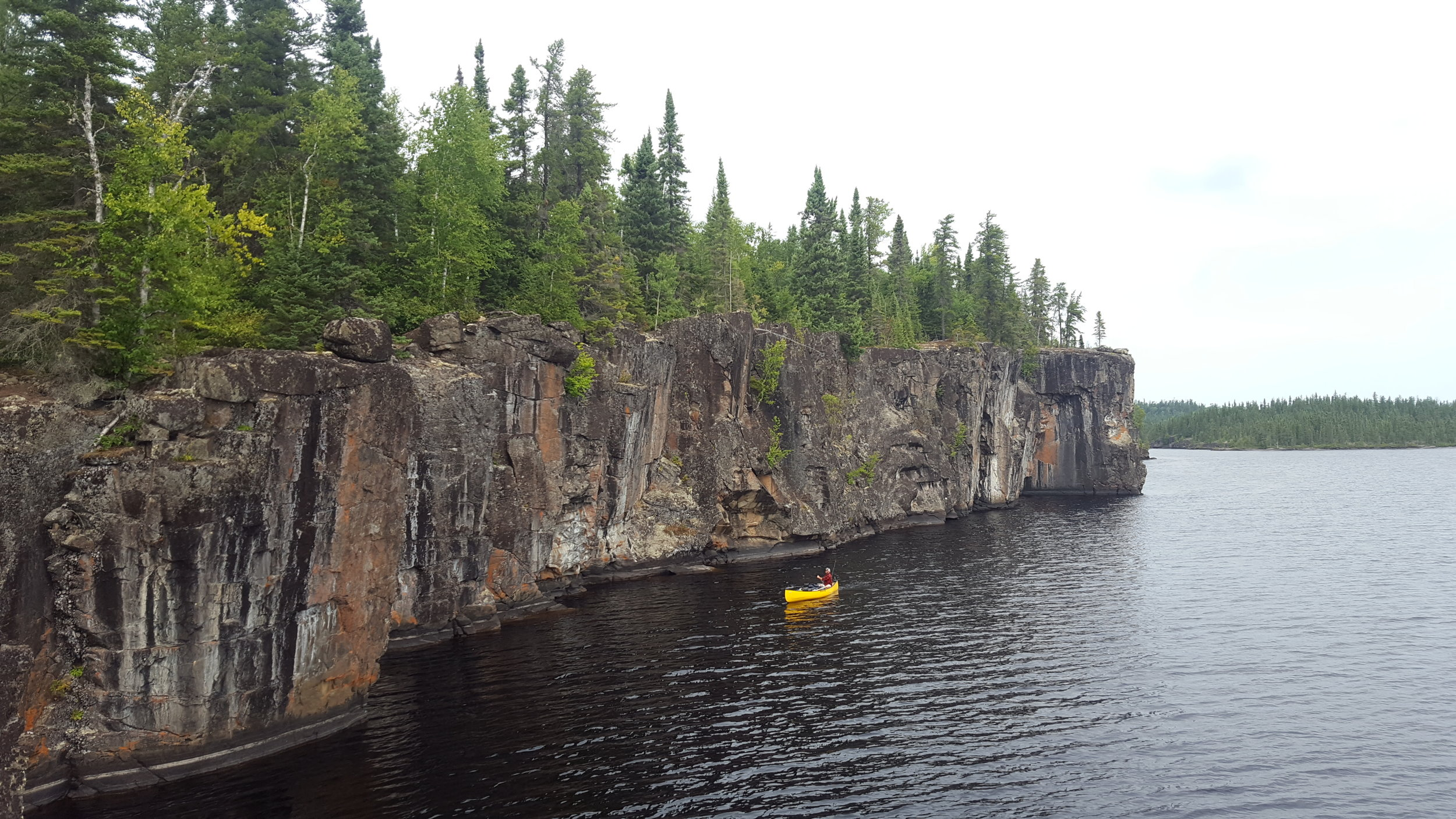 Paddling on Cliff Lake