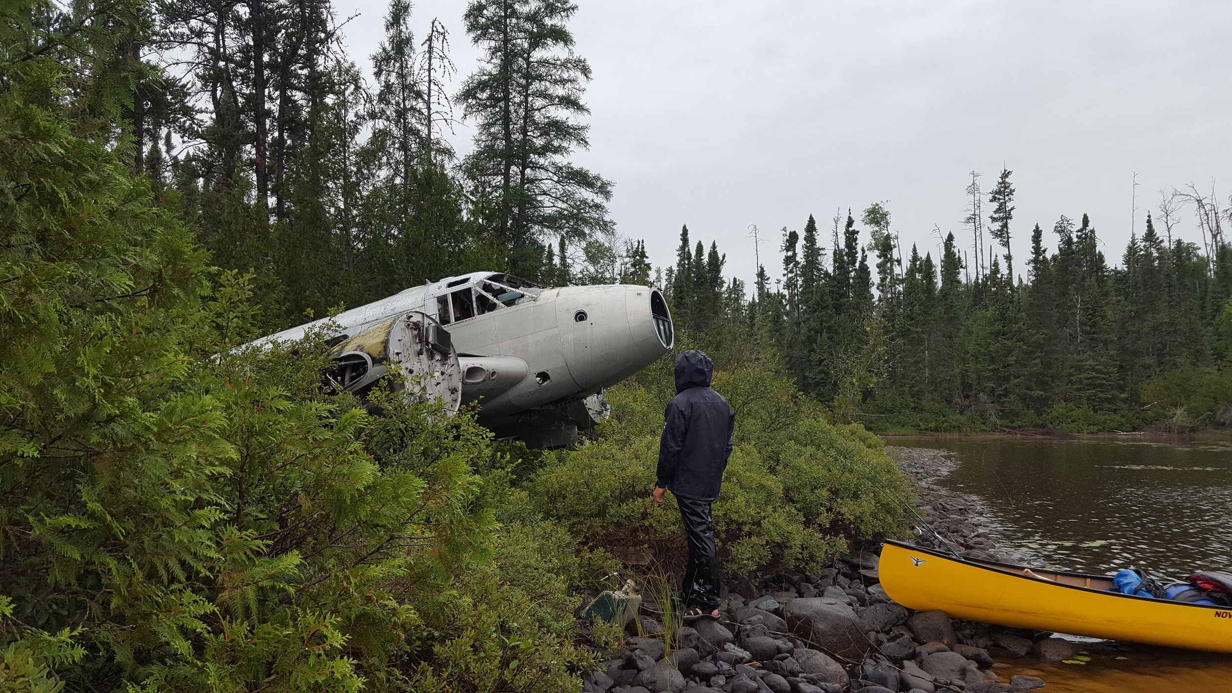 Old Plane Crash on Wash Lake