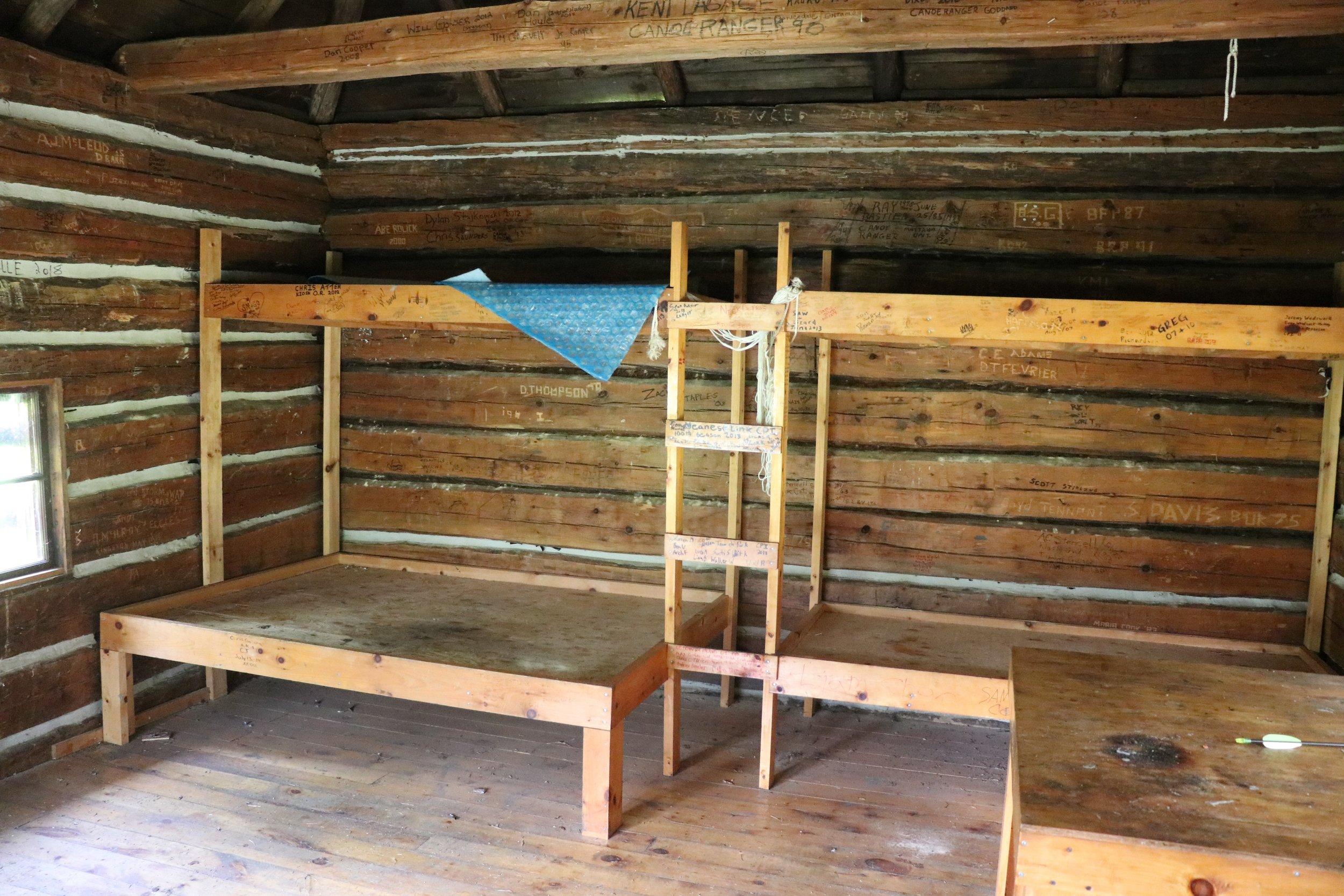 Inside the Highview Ranger Cabin in Algonquin Park