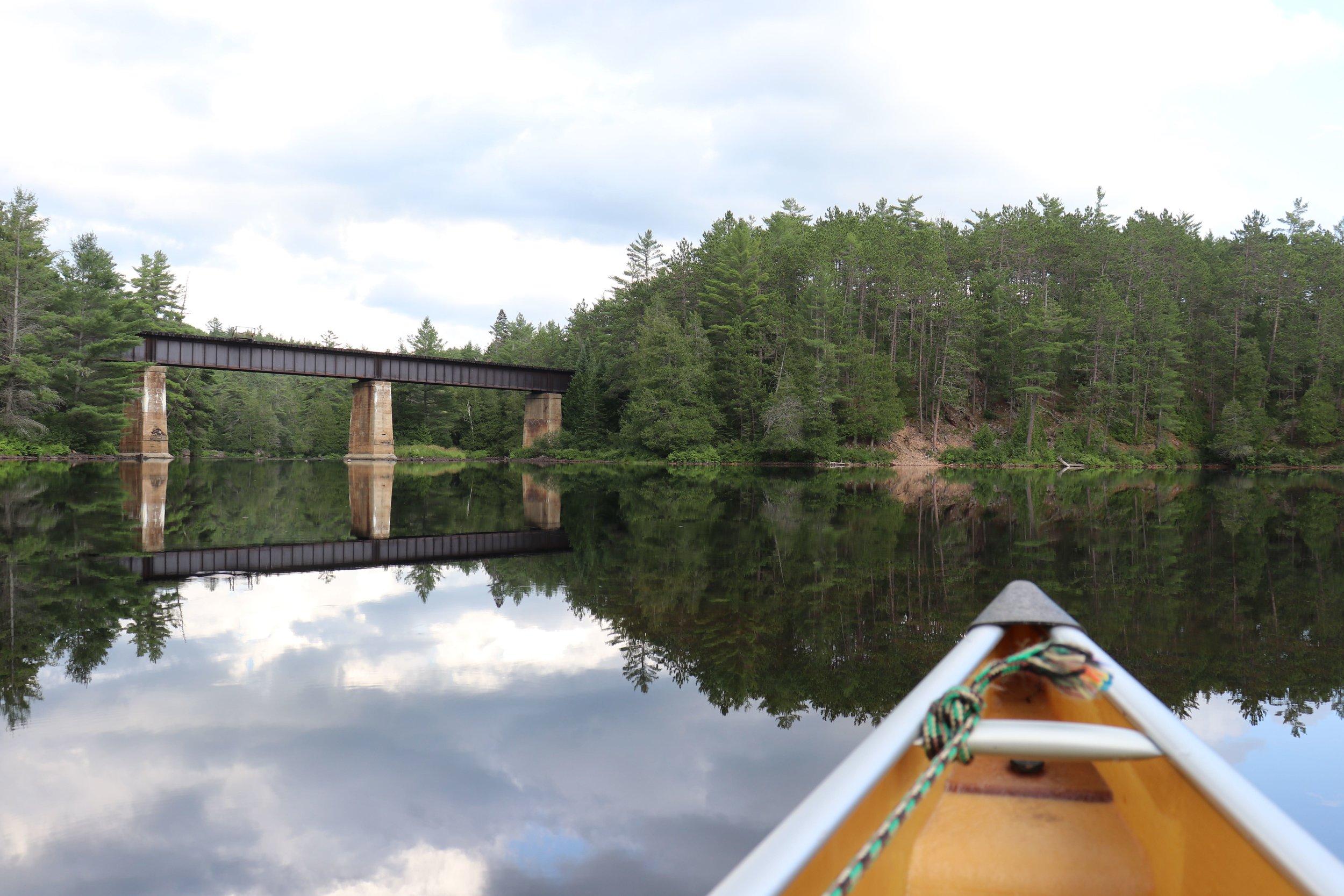 Old train bridge along the Petawawa River