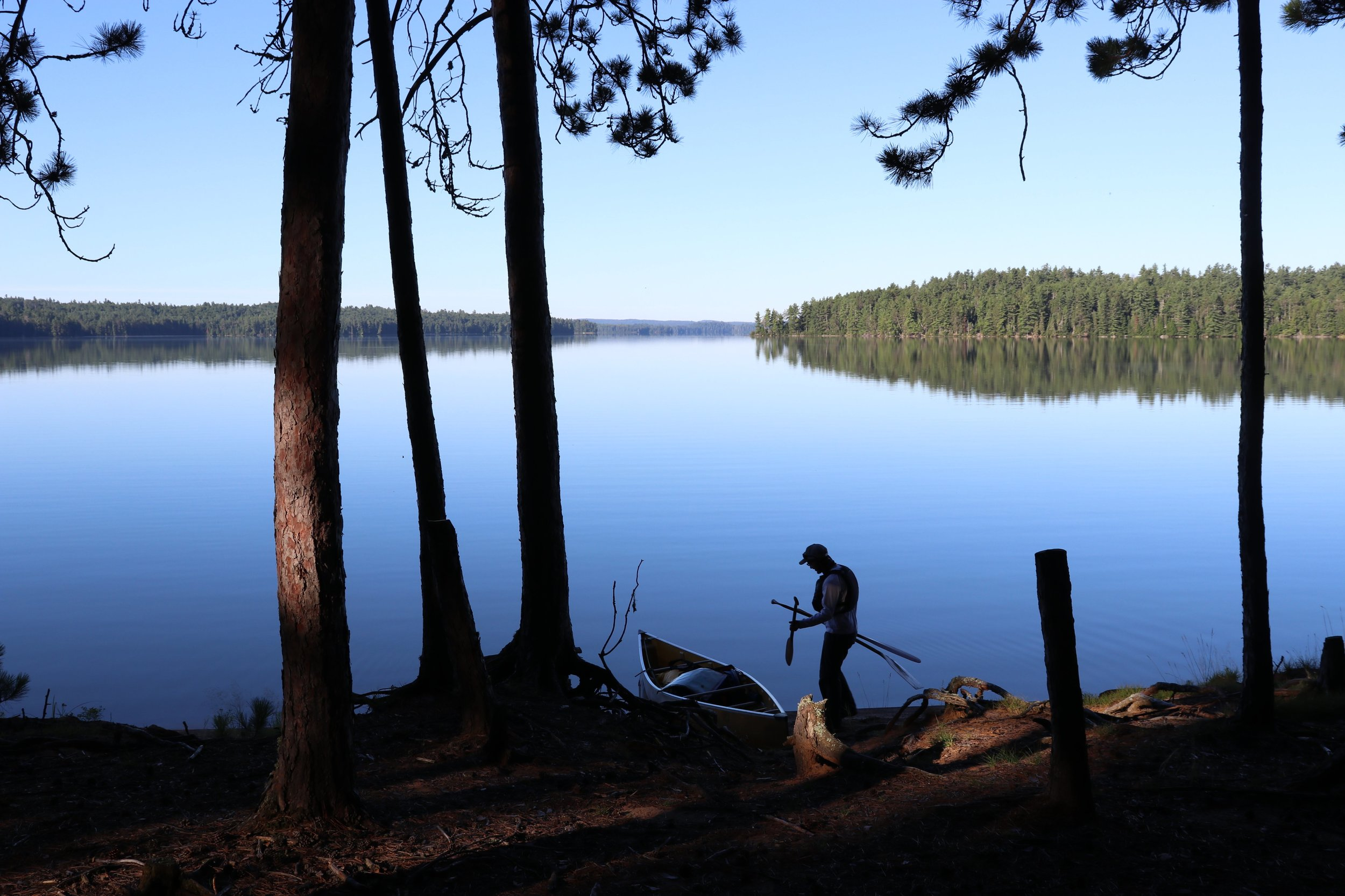 Arriving at the north end of Lake Opeongo