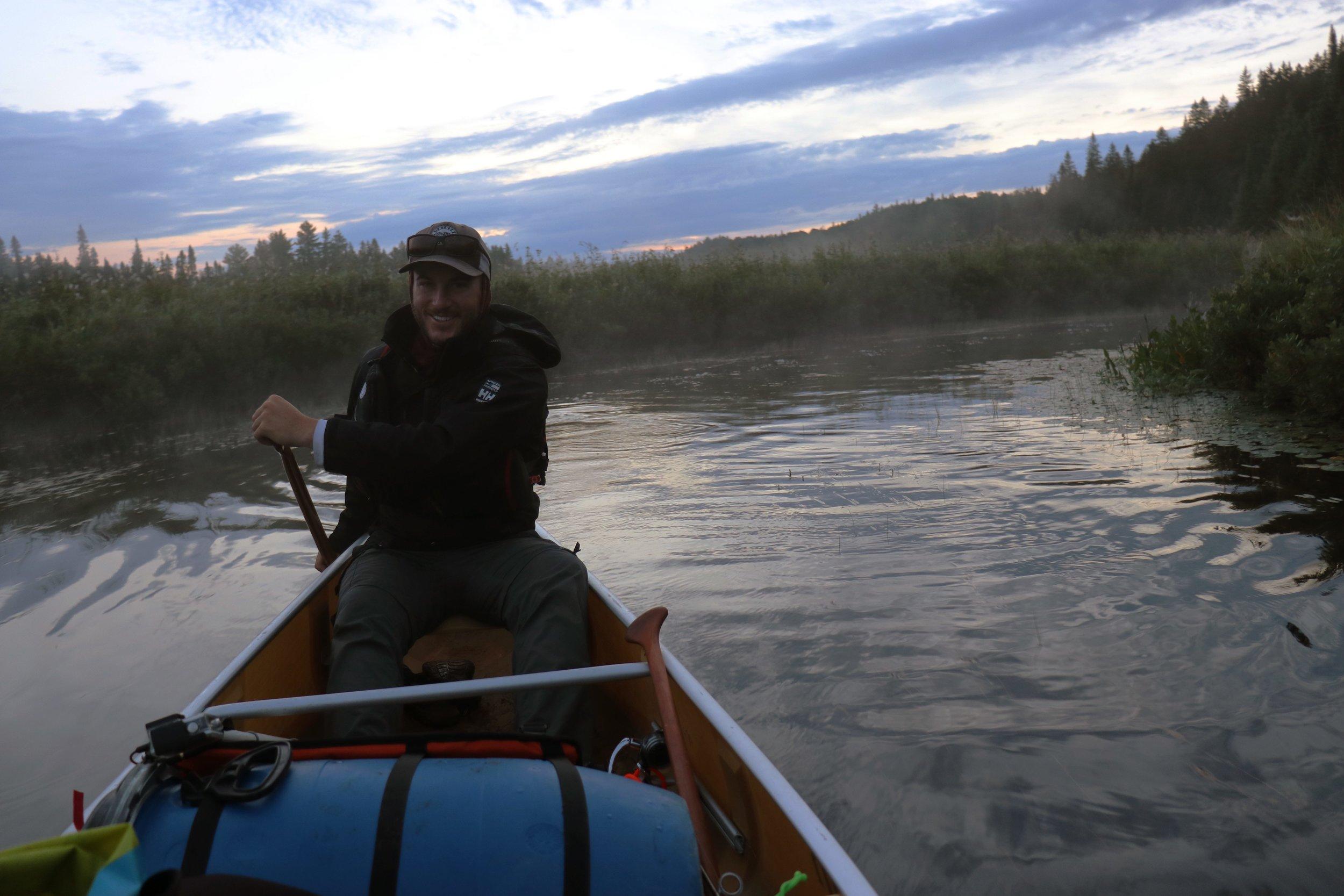 Early morning paddle on the Madawaska River