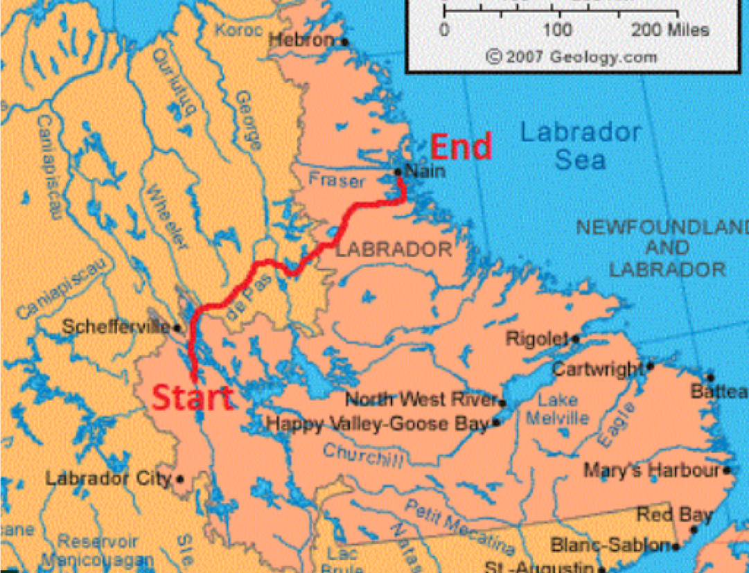 Boreal To Barrenlands Expedition Route