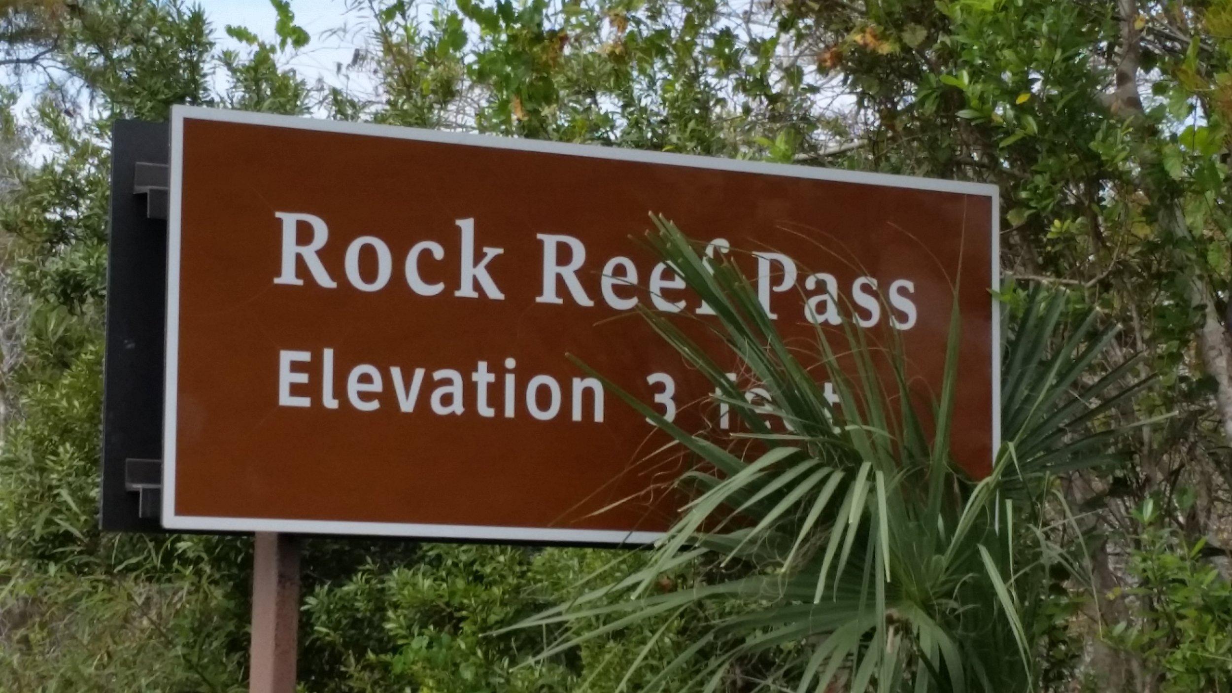 Everglades National Park (says 3 feet)