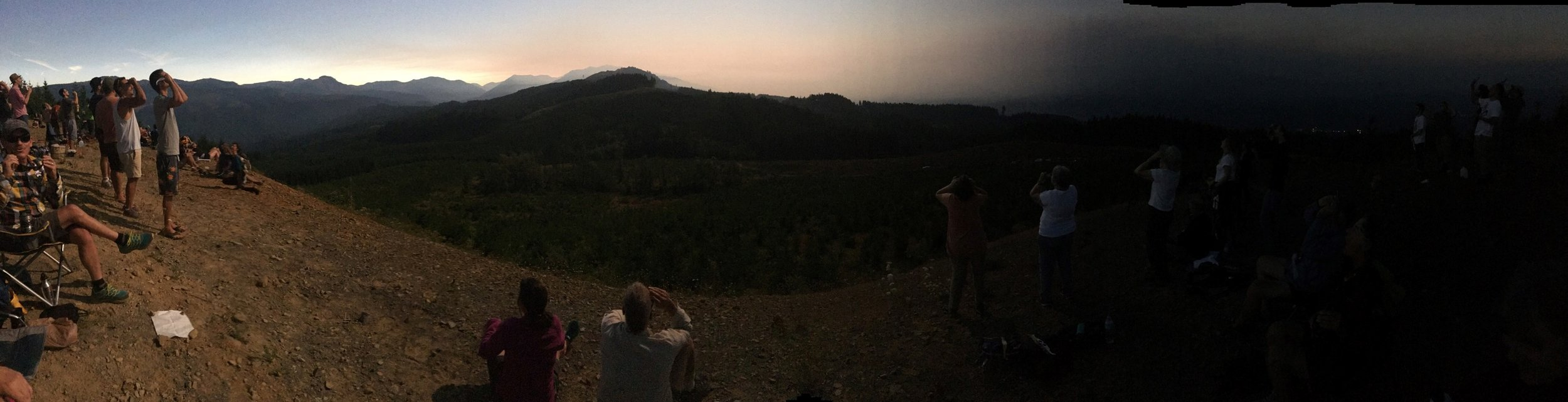 Cynthia Hartwig's panoramic photo of the eclipse