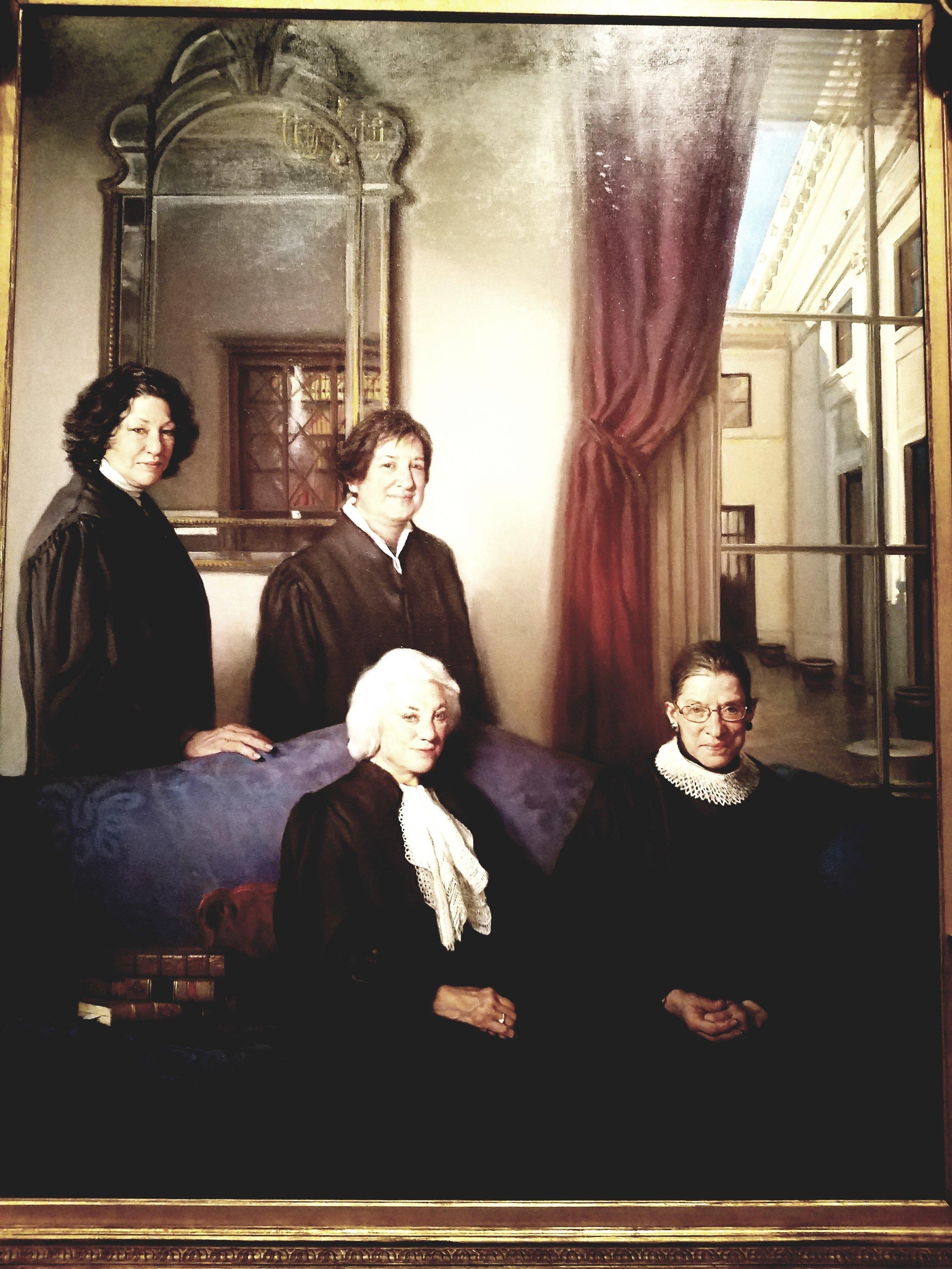 Portrait of four female Supreme Court Justices