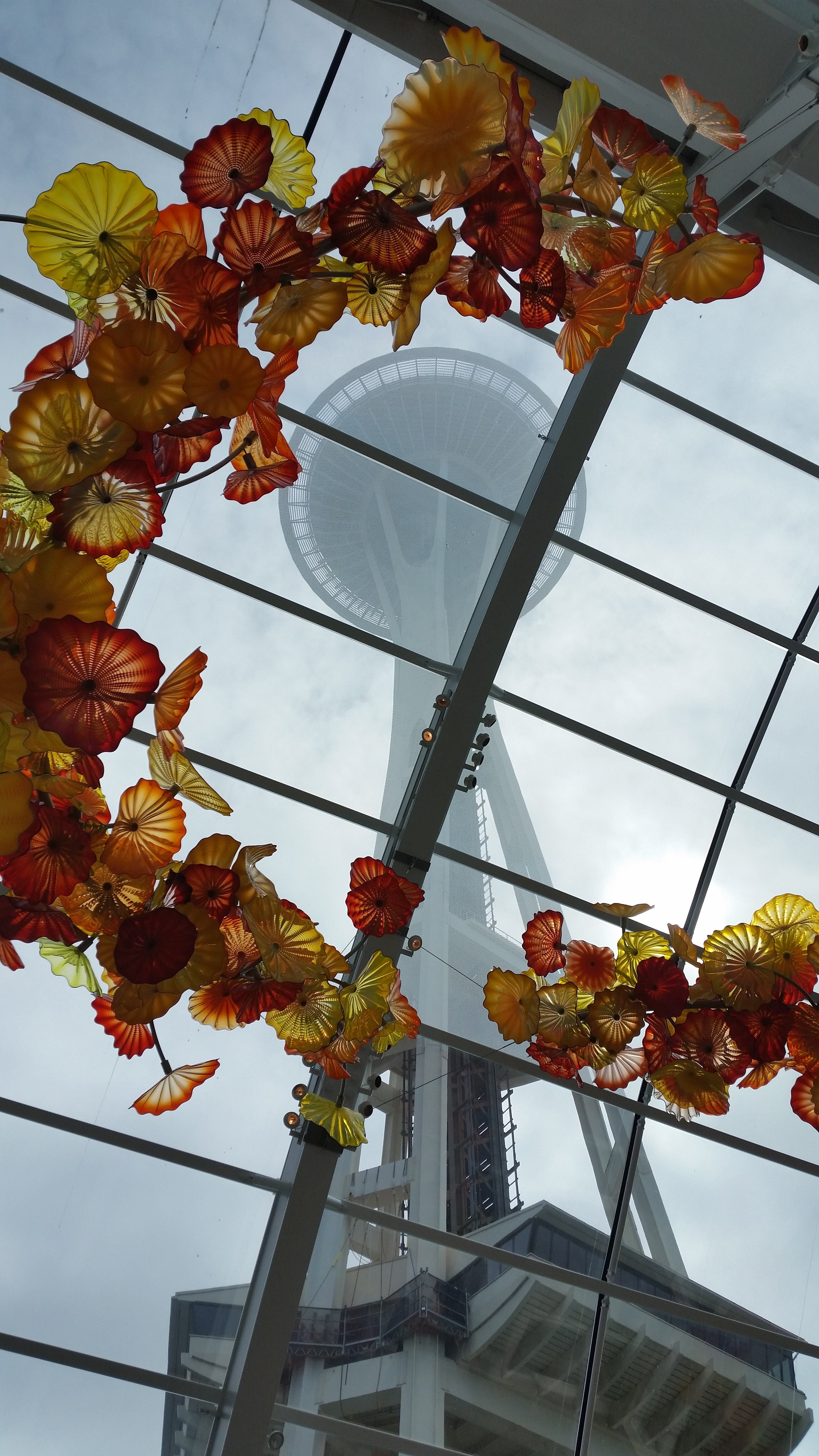 Space Needle from Chihuly Garden and Glass Museum