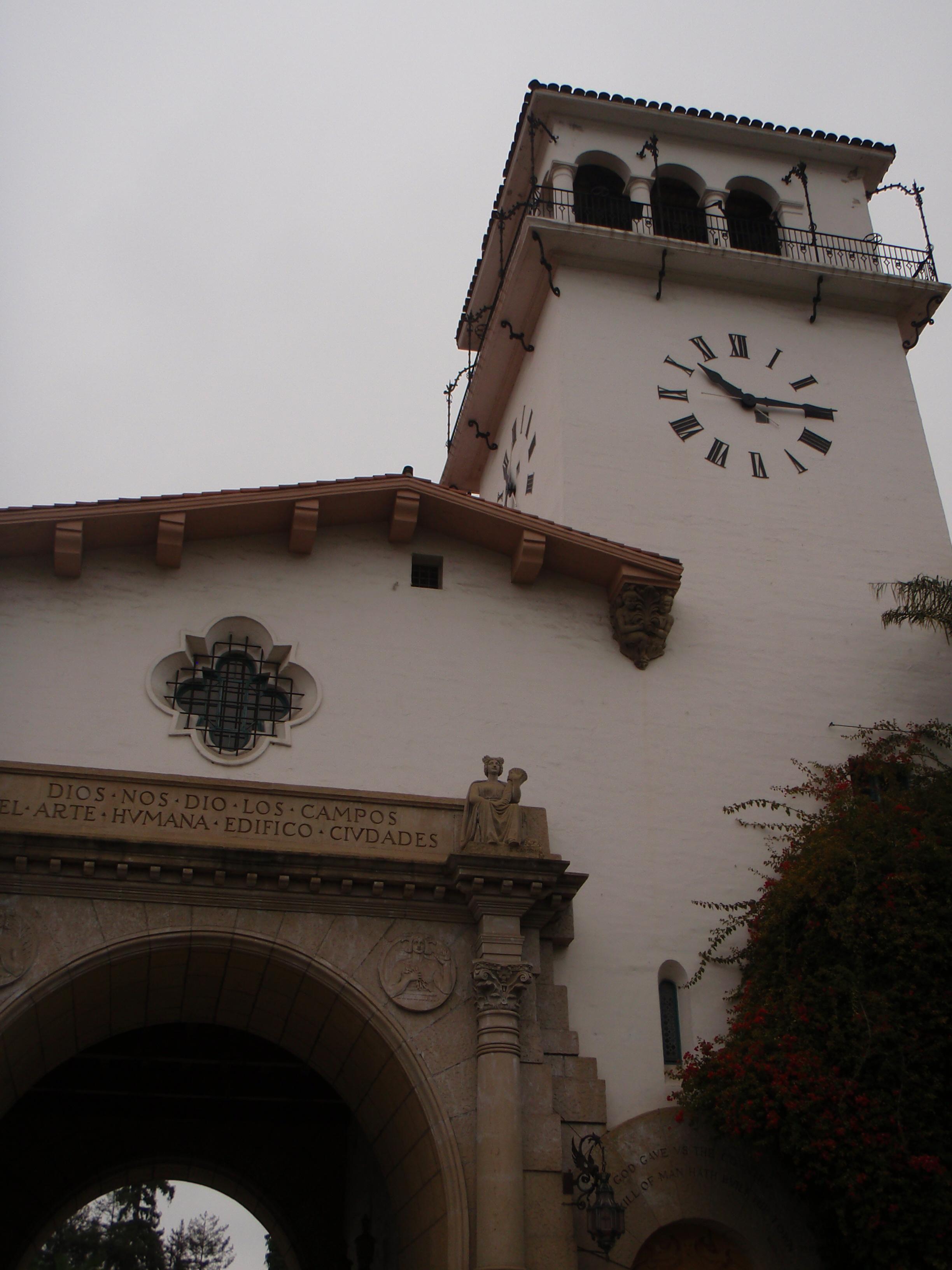 Courthouse and clock tower, Santa Barbara, CA