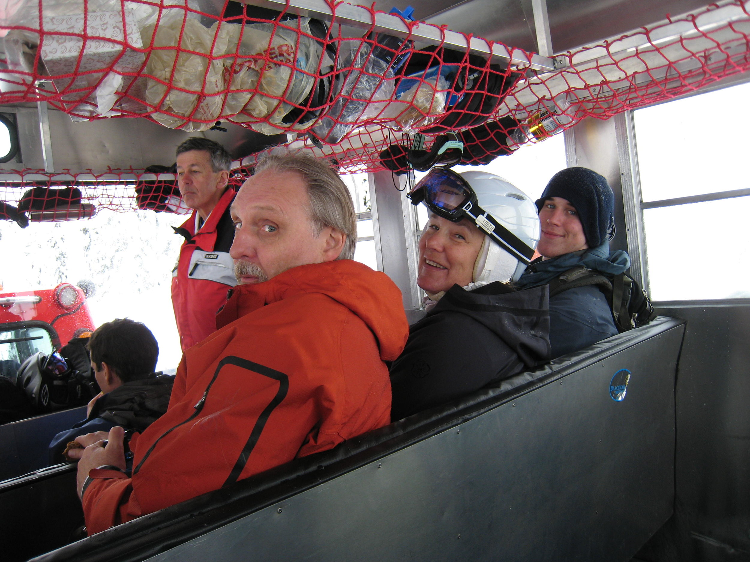 Inside the Sno-Cat