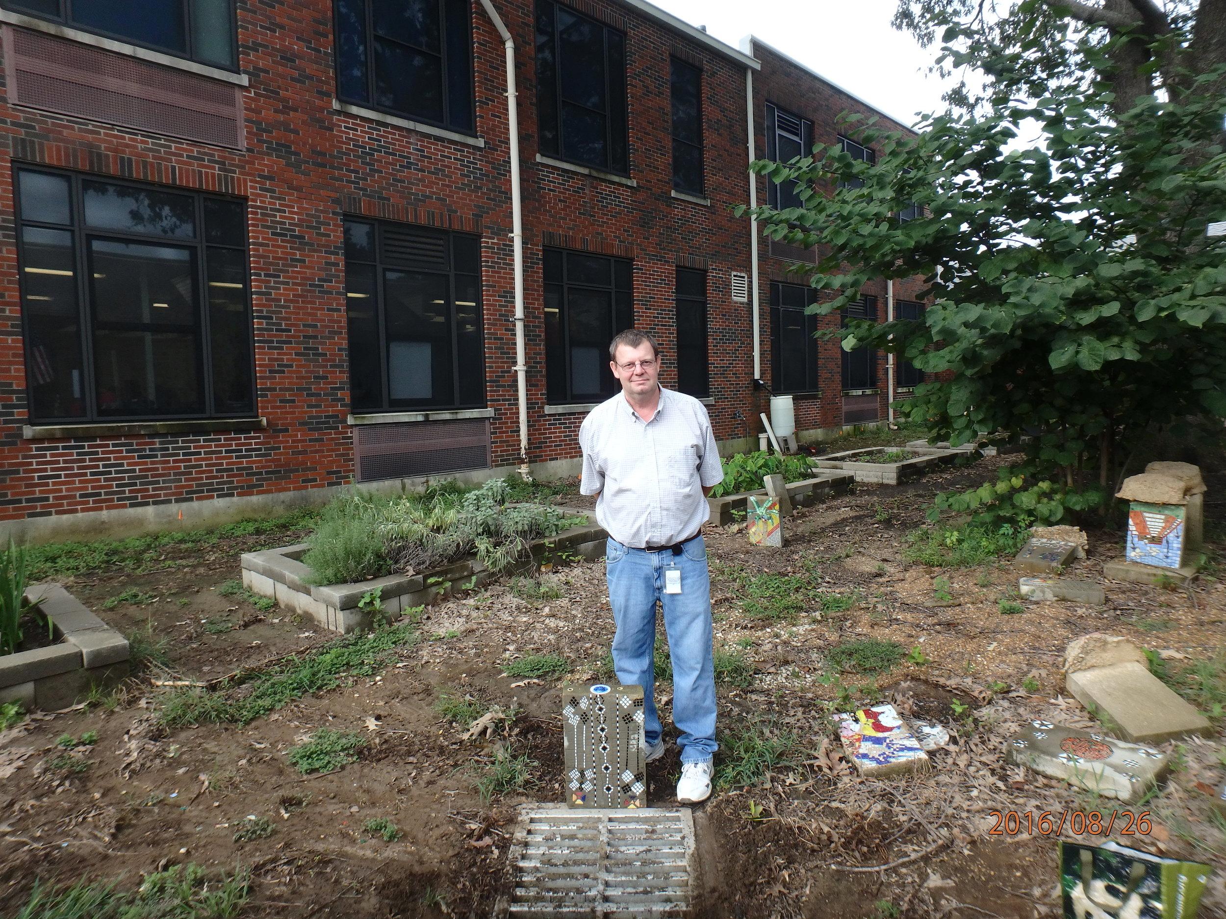 The John F. Belew Memorial Adopted Storm Drain at Kingsbury High School