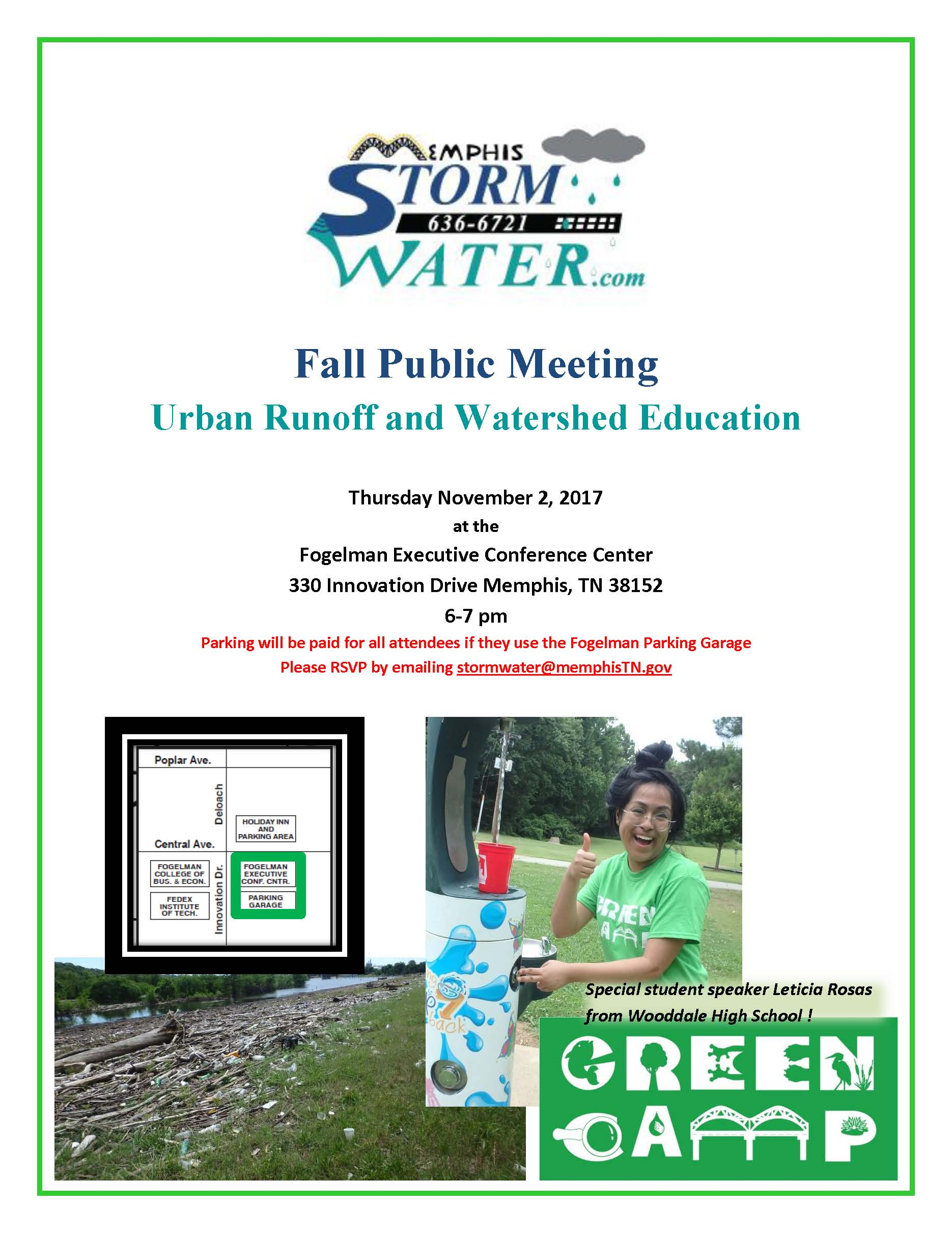 Fall Public Meeting - Urban Runoff and Watershed Education