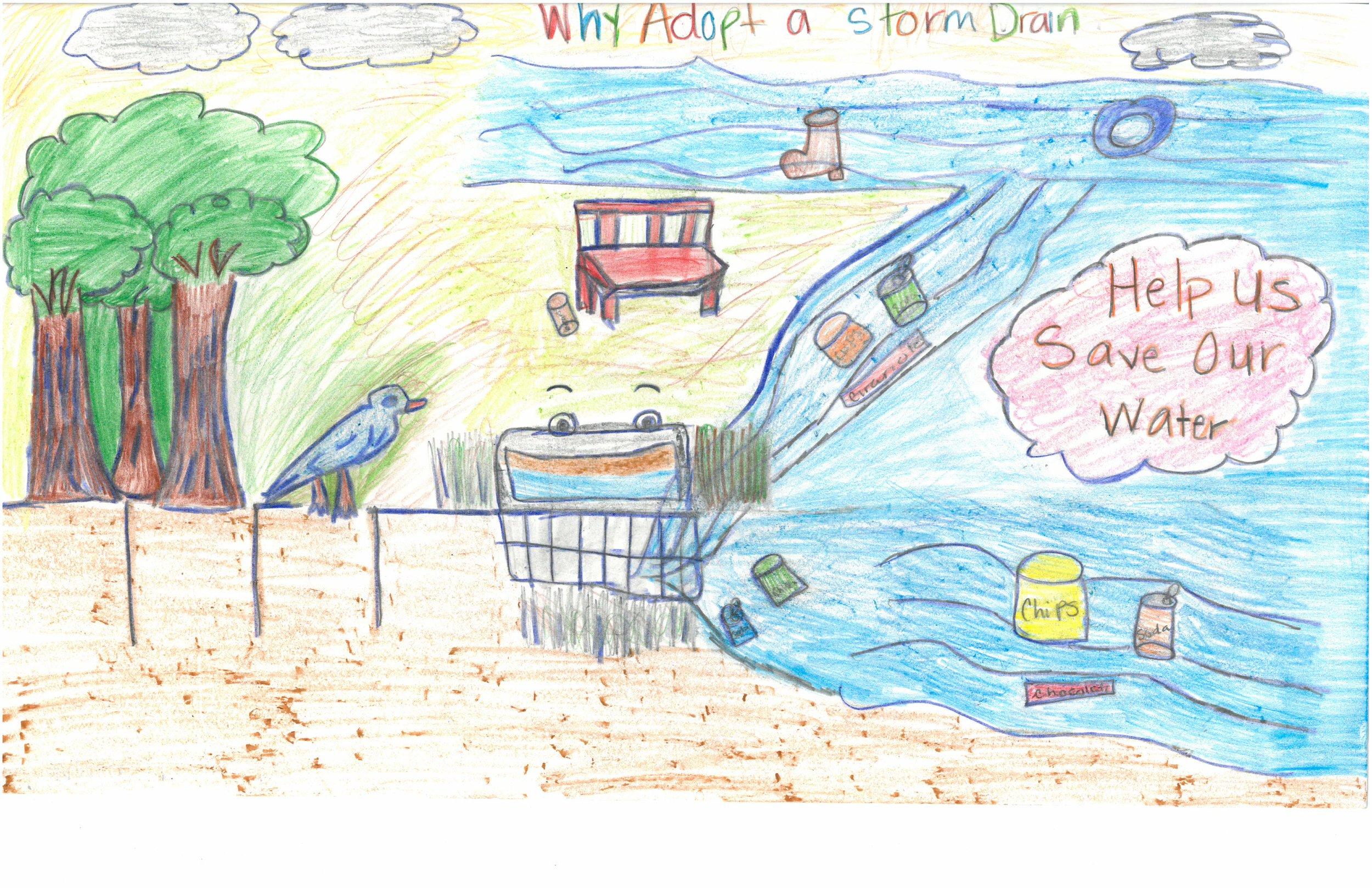 WINNER- Whittney Ousley, 5th grader at Douglass Elem.