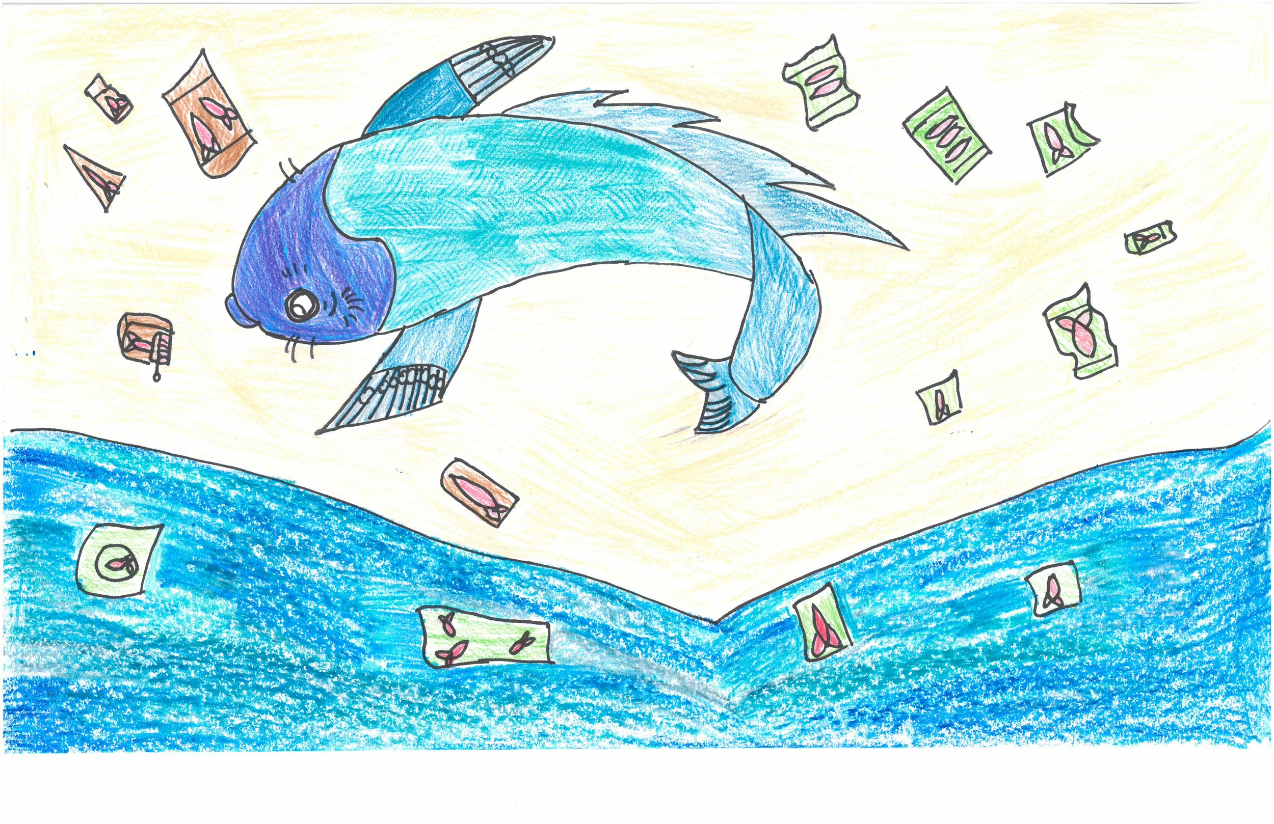 Honorable Mention! Chloe Harris, 4th grader at Peabody Elem.