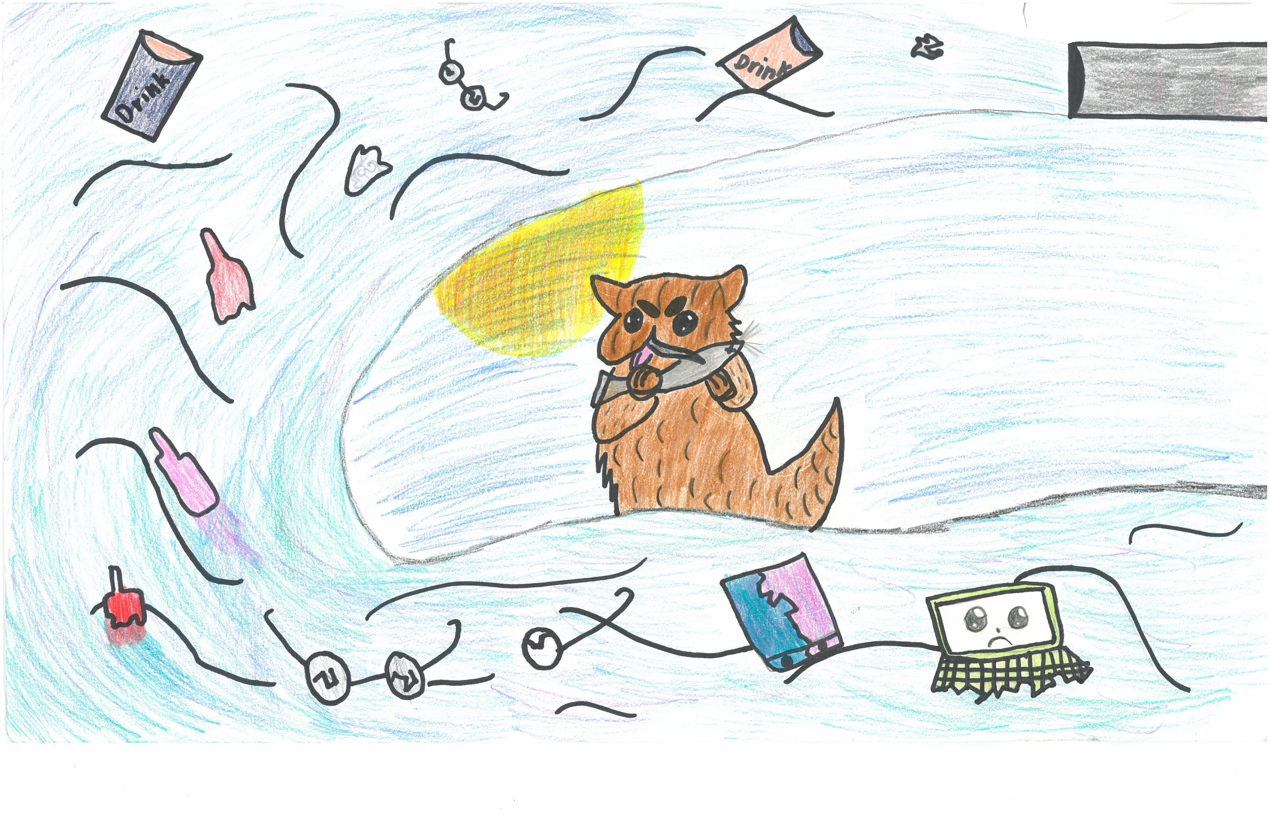 Honorable Mention! Kalice Woods, 4th grader at Peabody Elem.