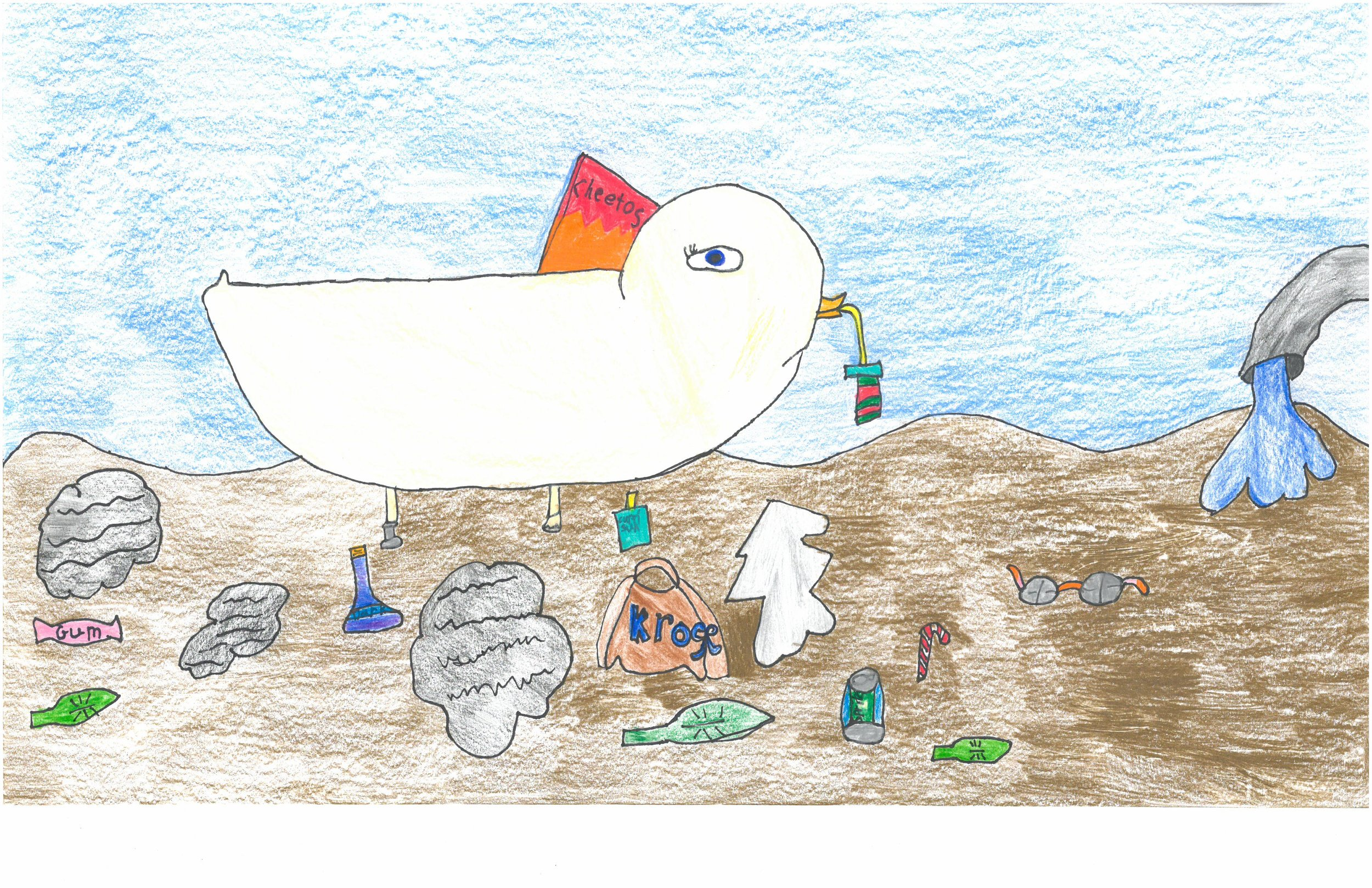 Honorable Mention! Lily Crum, 2nd grader at Peabody Elem.