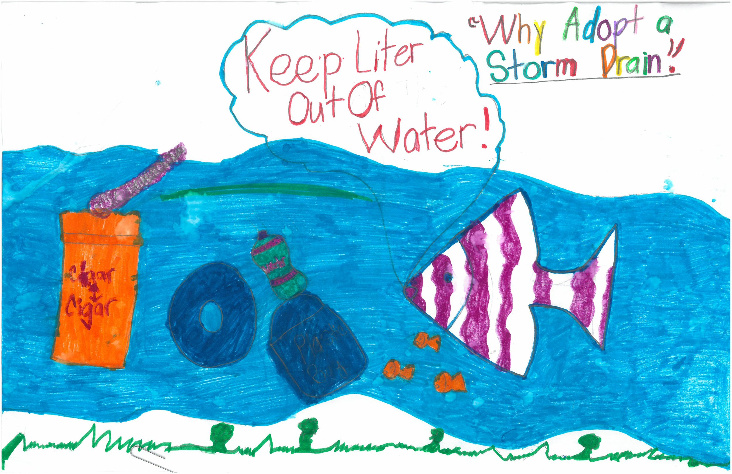 Honorable Mention! Paiden Ivy, 3rd grader at Shady Grove Elem.