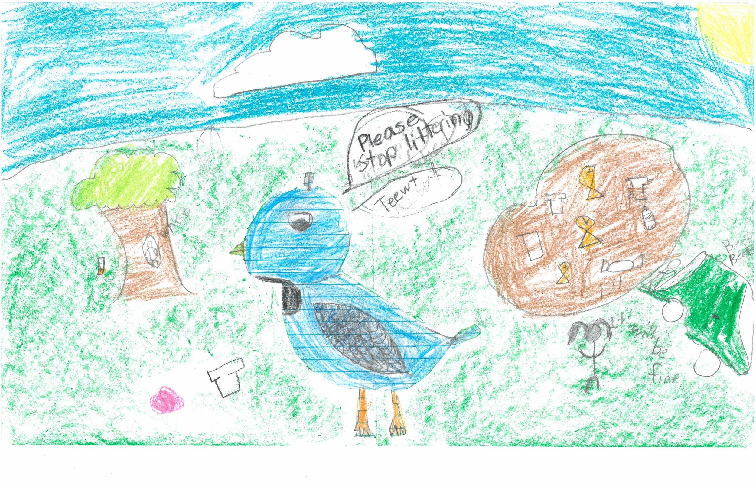Honorable Mention! Samaira Leak, 3rd grader at Shady Grove Elem.