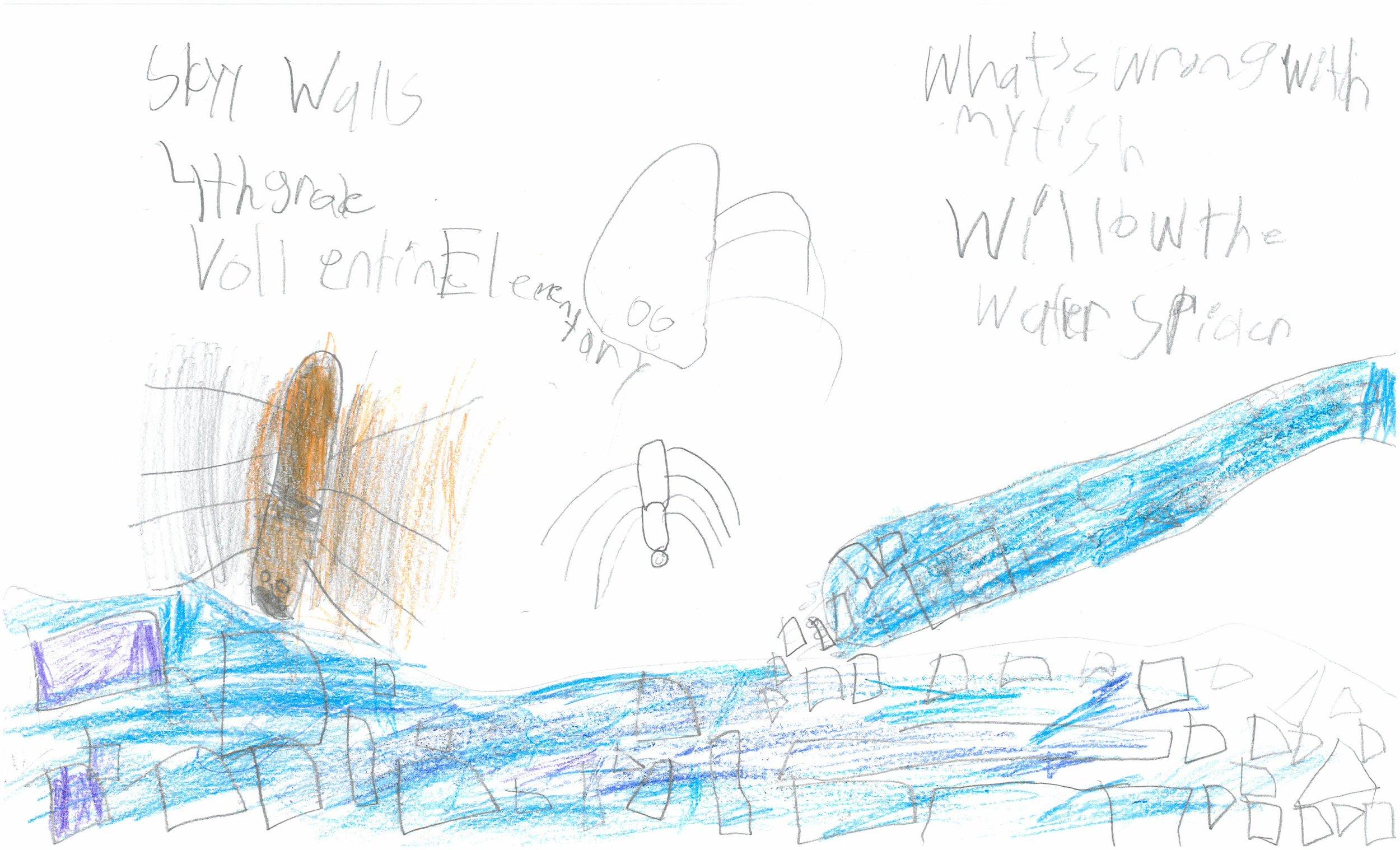 Skyy Walls, 4th grader at Vollentine Elem.