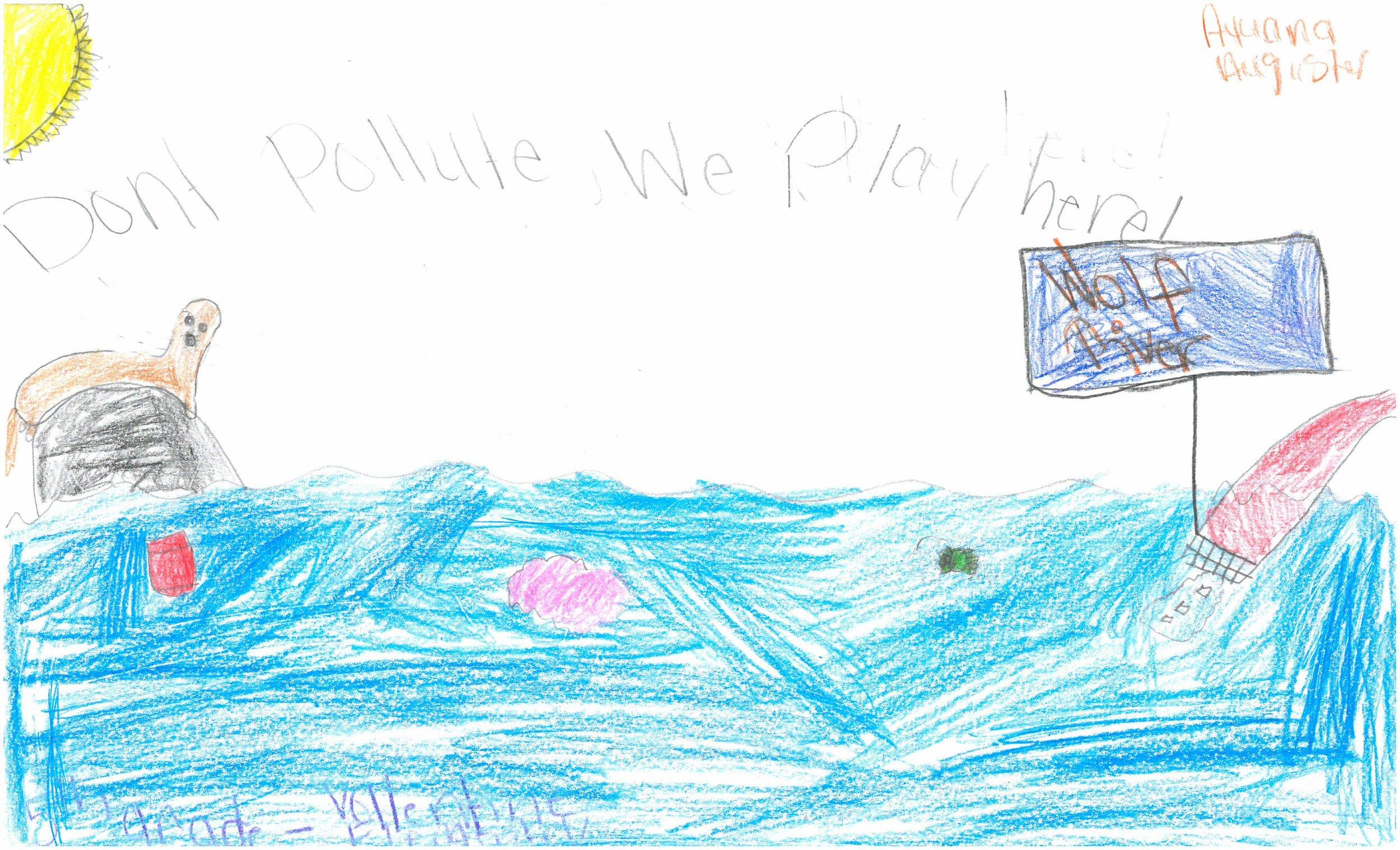 Ayuana Auguster, 5th grader at Vollentine Elem.