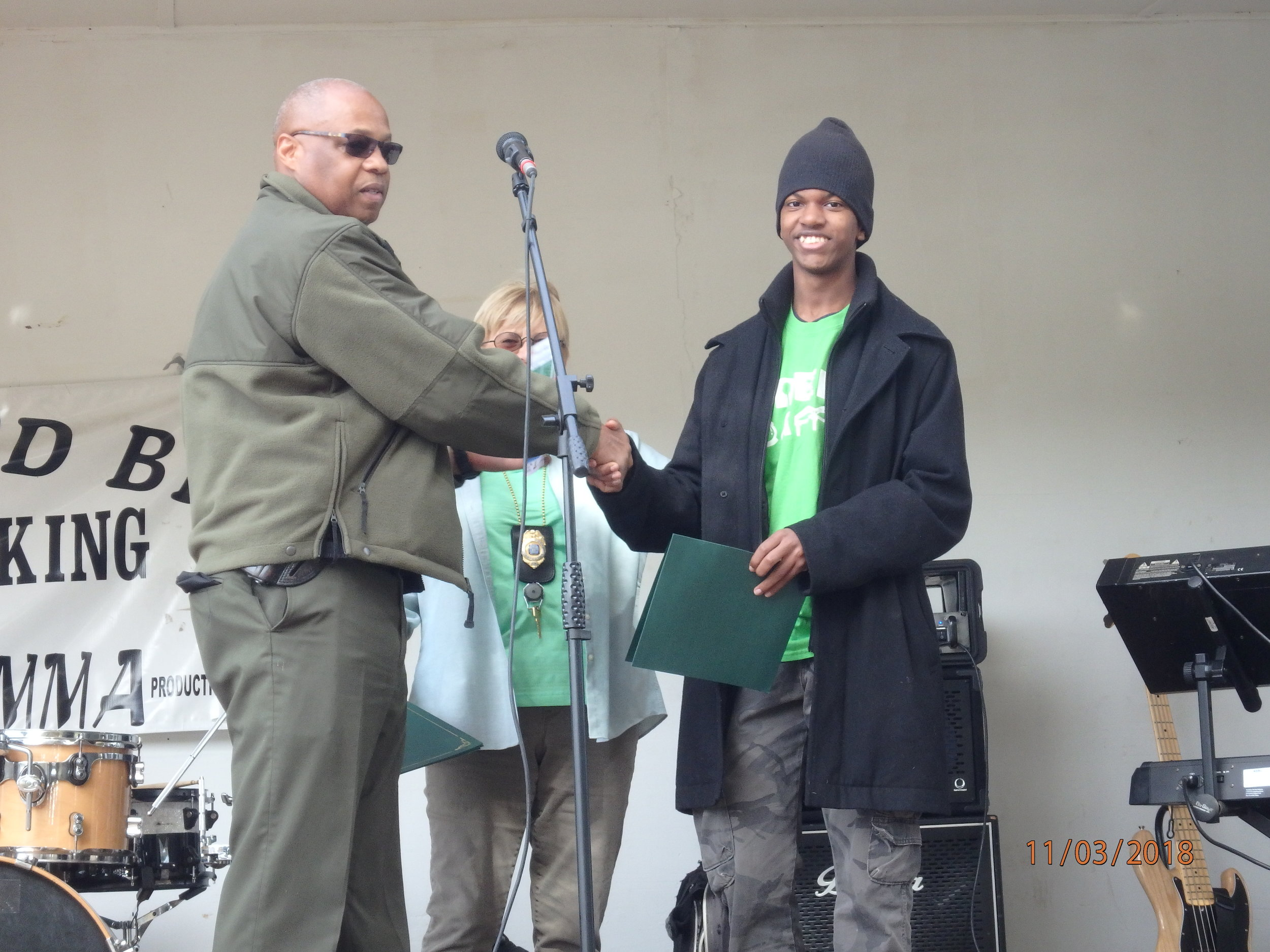2018 GreenFest- Green Camper Elan honored